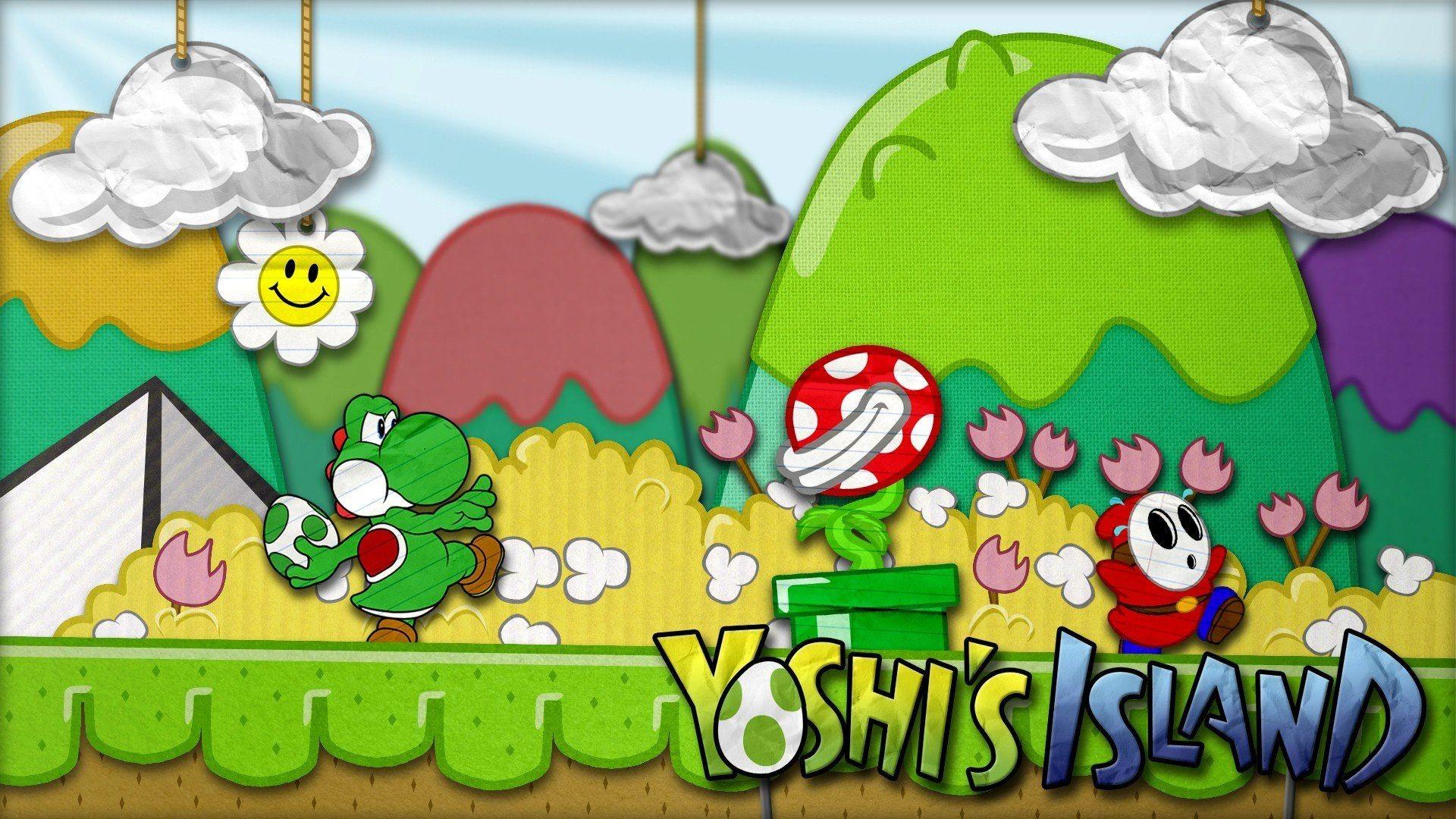 Video games Super Mario Yoshi Shy Guy Piranha Plant wallpaper .