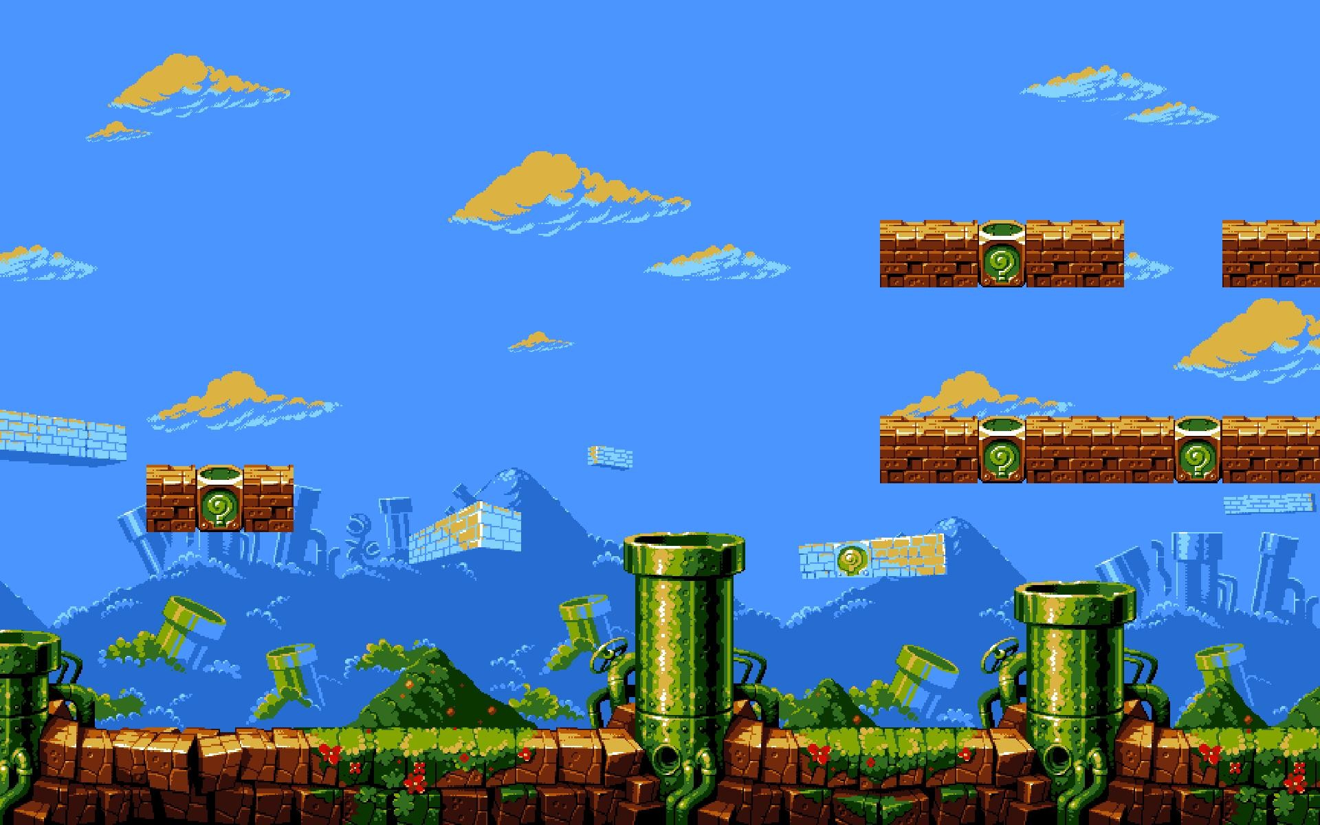 … super mario bros level 1 1 dual screen wallpaper by hd wallpapers …
