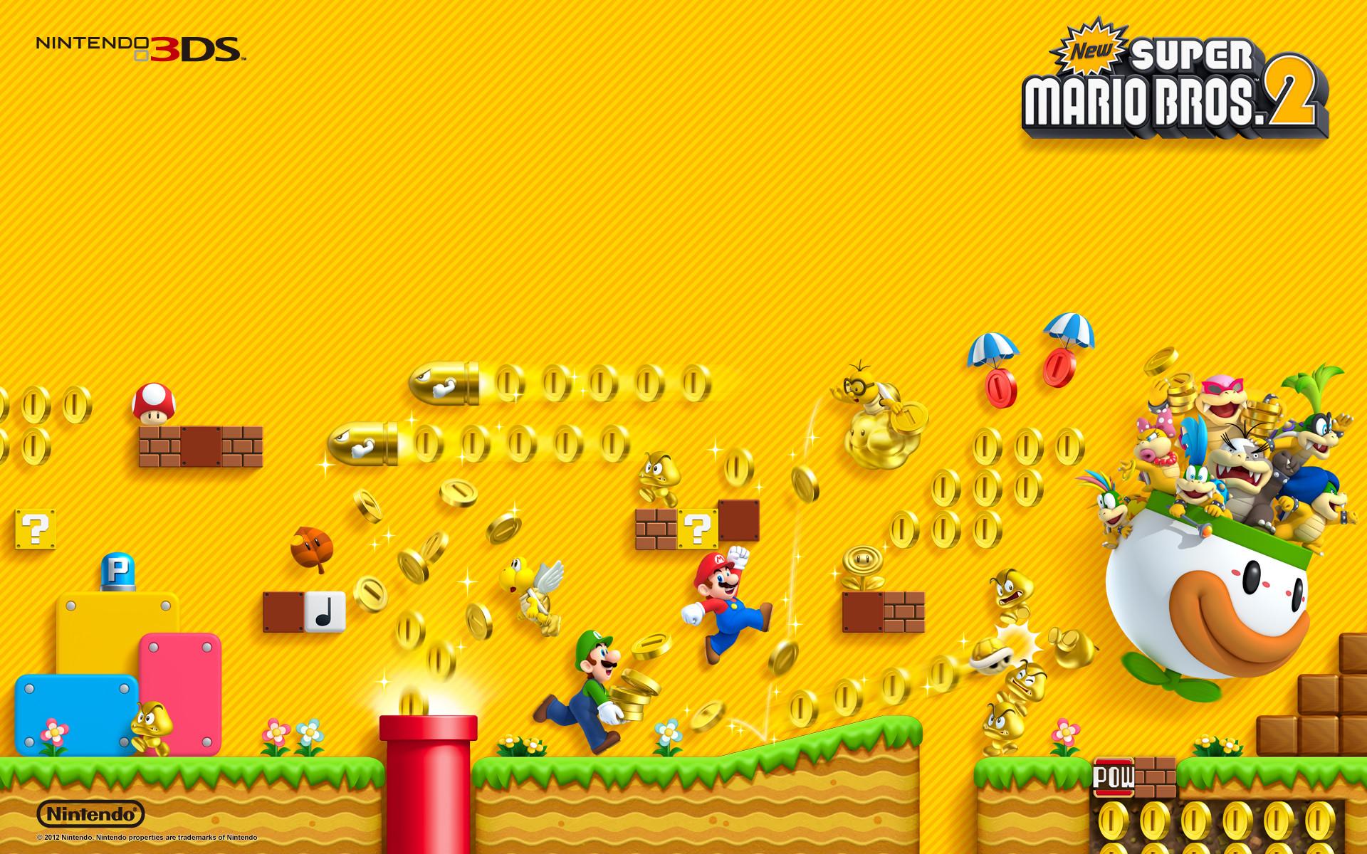 New Super Mario Bros 2 Artwork Wallpaper