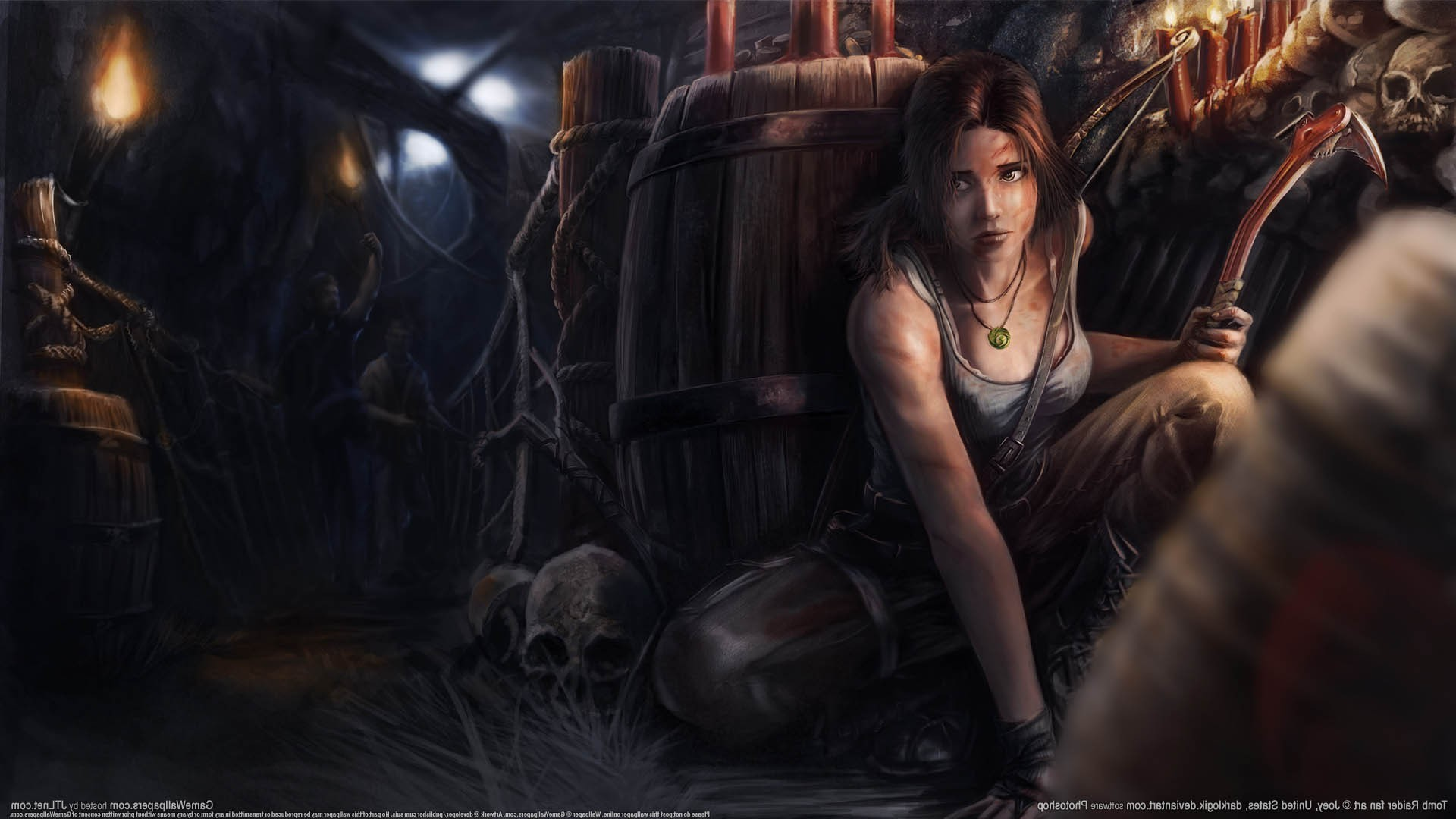 video Games, Video Game Characters, Video Game Girls, Tomb Raider, Lara  Croft, Fan Art, Artwork Wallpapers HD / Desktop and Mobile Backgrounds