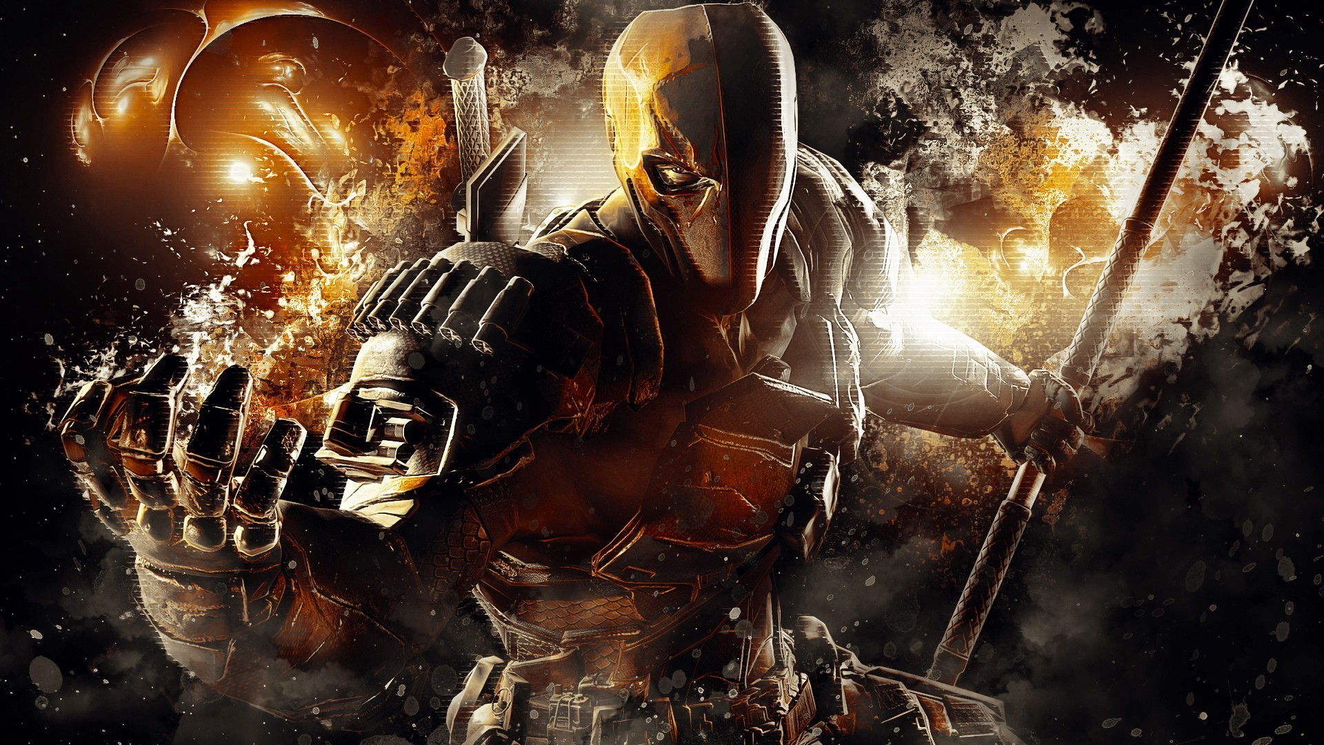 artwork, Video Games, Deathstroke, DC Comics, Batman: Arkham Origins, Mask,  Warrior, Video Game Characters Wallpapers HD / Desktop and Mobile  Backgrounds