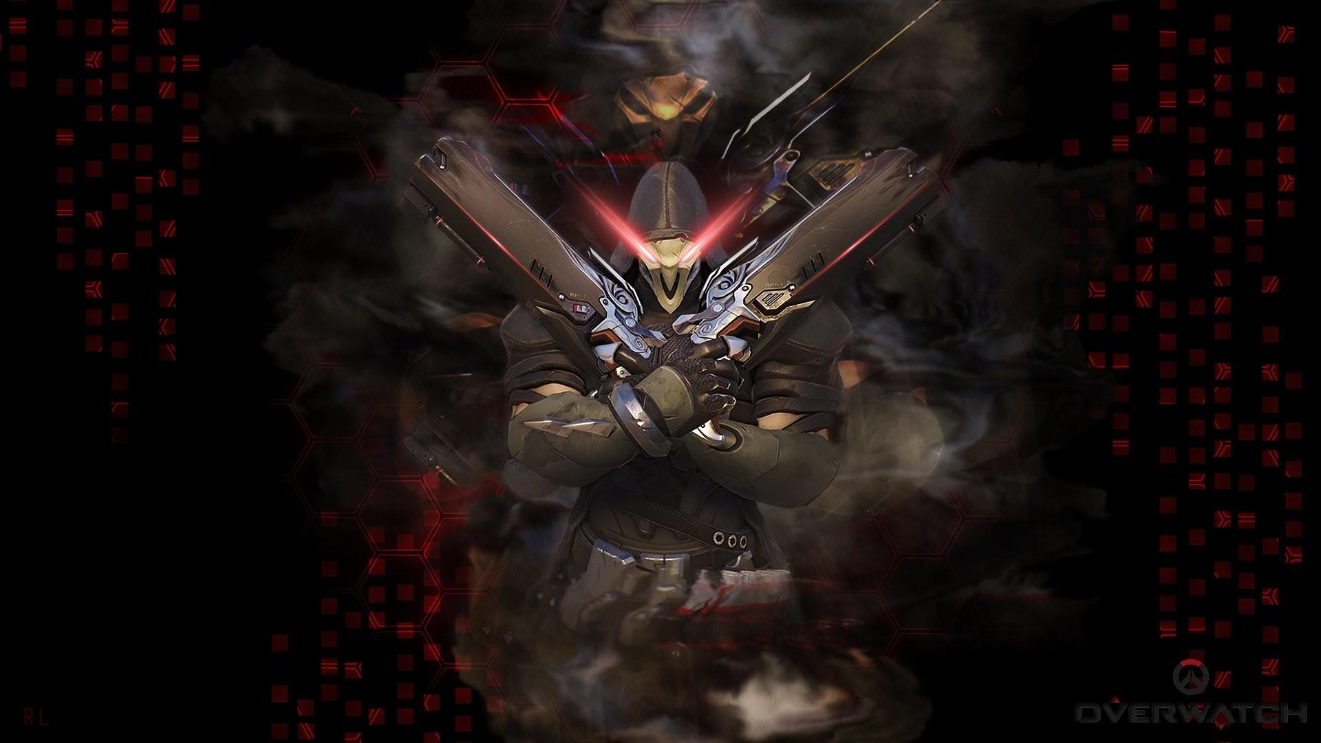 Video Game Overwatch Dark Reaper (Overwatch) Wallpaper