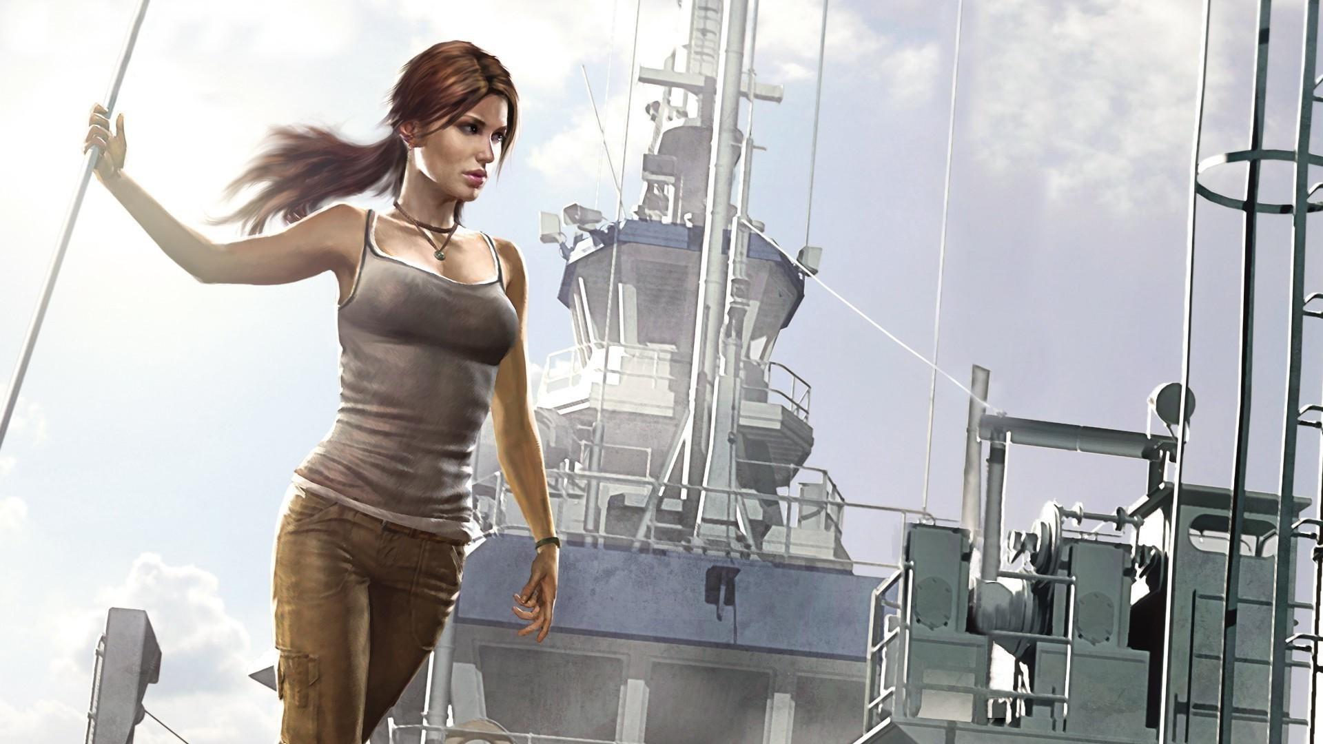 video Games, Video Game Characters, Video Game Girls, Tomb Raider, Lara  Croft, Fan Art, Artwork, Tank Top Wallpapers HD / Desktop and Mobile  Backgrounds