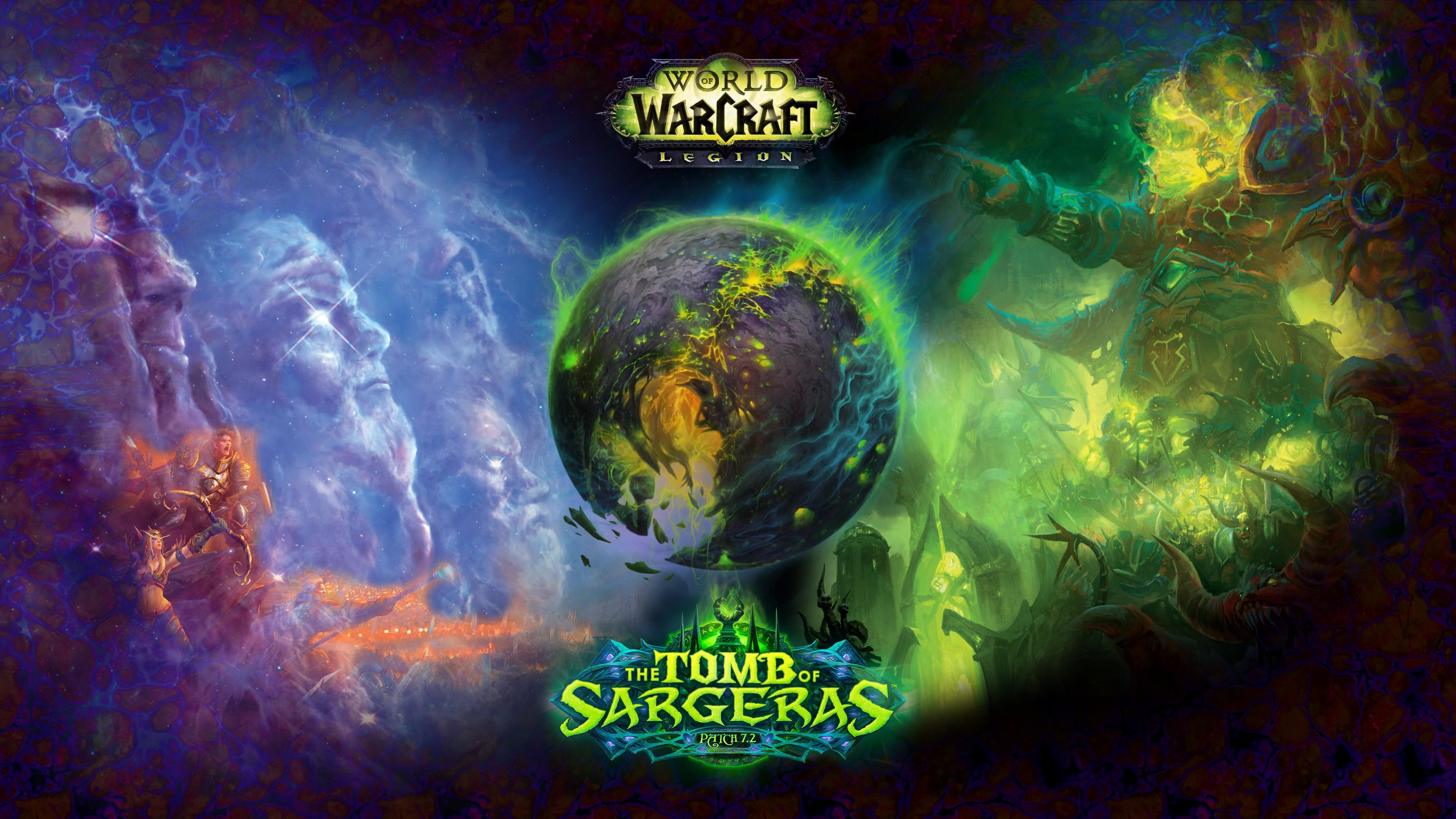 Sure, it looks more like a tease for 7.3 aka Argus than a Tomb of Sargeras  wallpaper, but it's very impressive nonetheless: