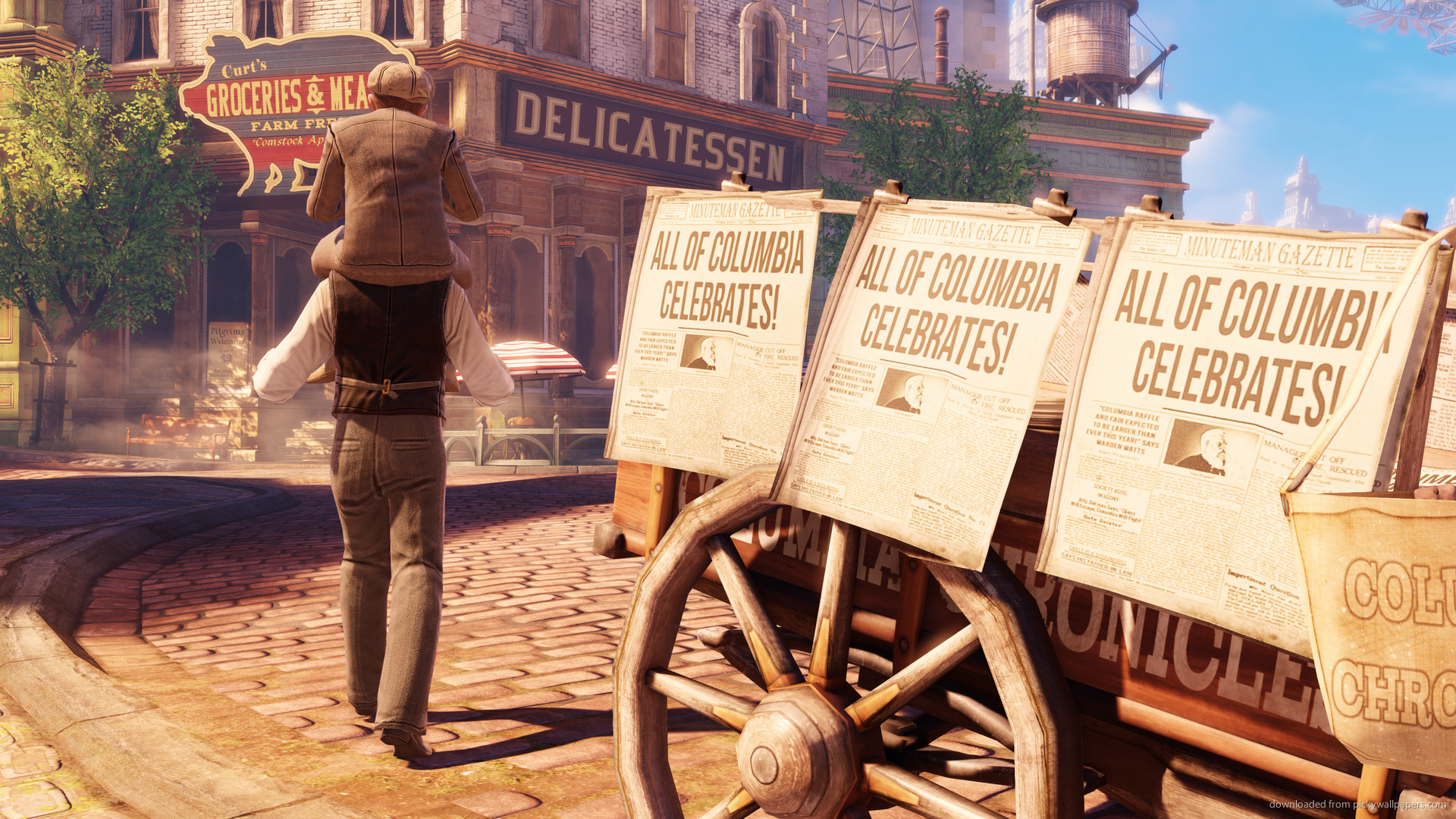 Bioshock Infinite Signs for 1920×1080
