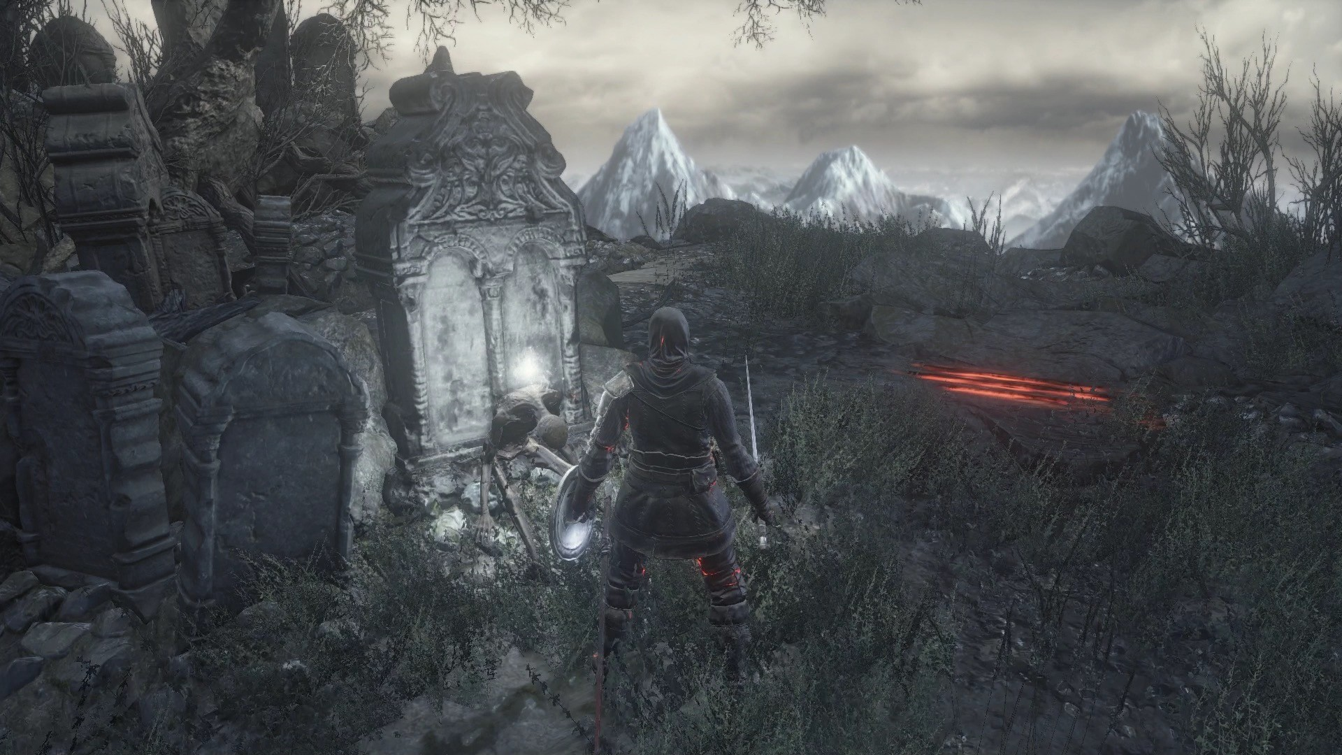 Open the doors at the far end of the arena, and you'll enter the area  outside of Firelink Shrine. Loot the corpse resting on a headstone for a  Broken …