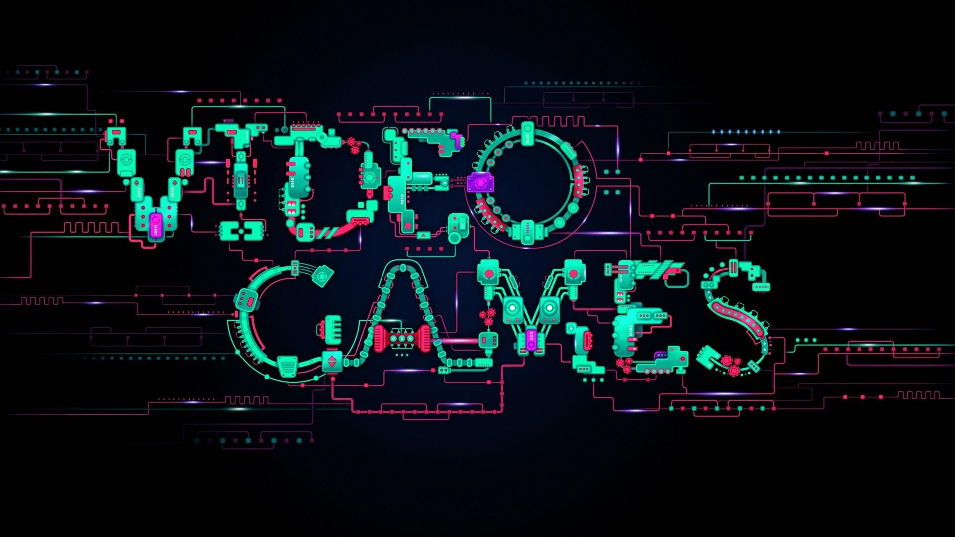 Video Games Typography desktop PC and Mac wallpaper