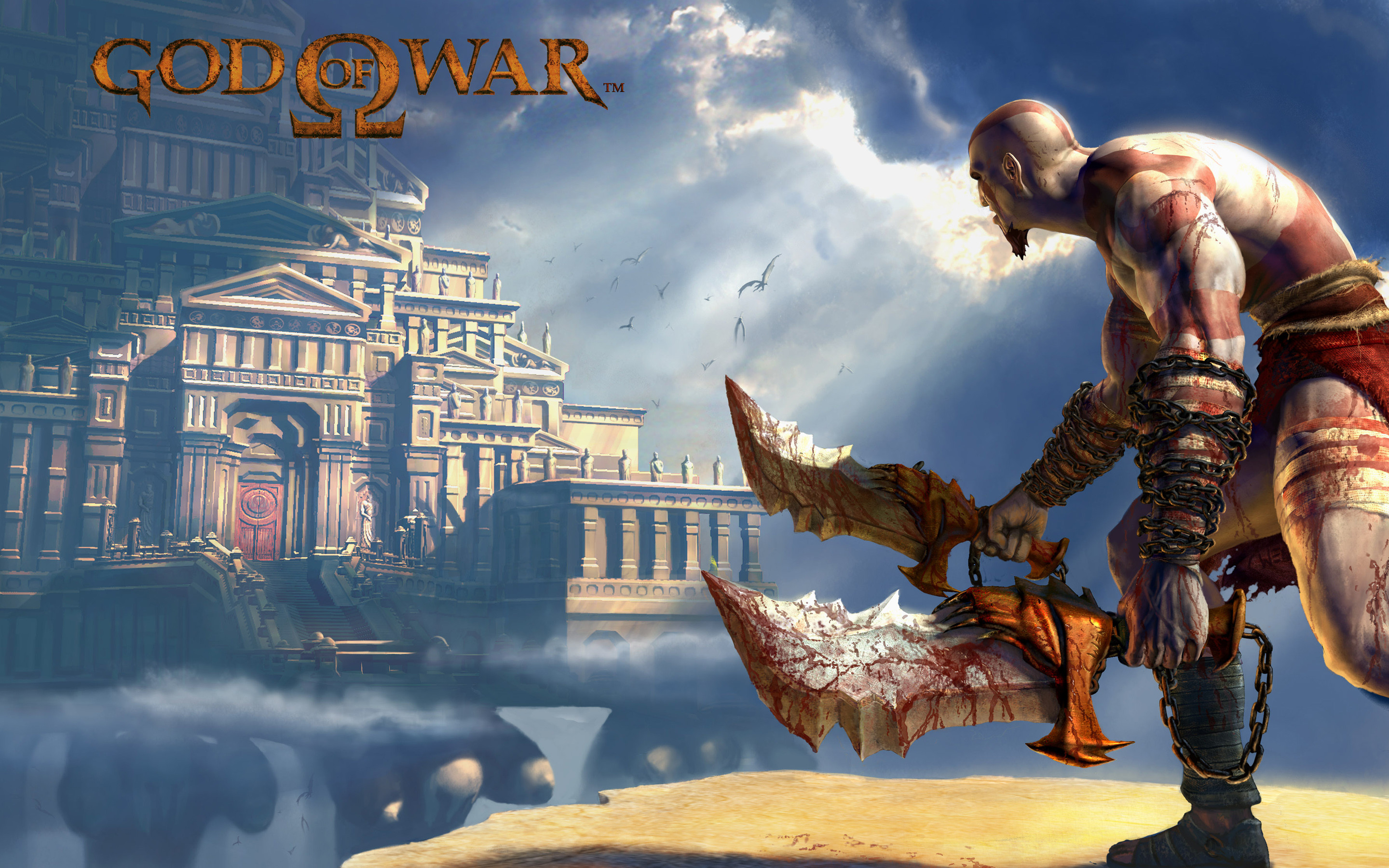 God of War 2 Game – This HD God of War 2 Game wallpaper is based