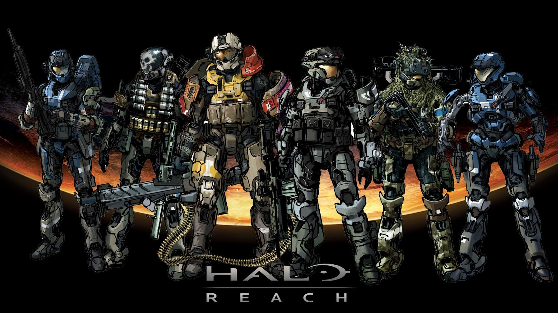 Wallpapers For > Halo Reach Noble Team Wallpaper Hd