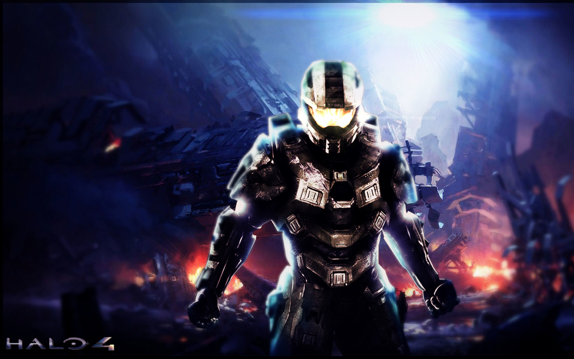 halo 4 wallpaper – red – blue
