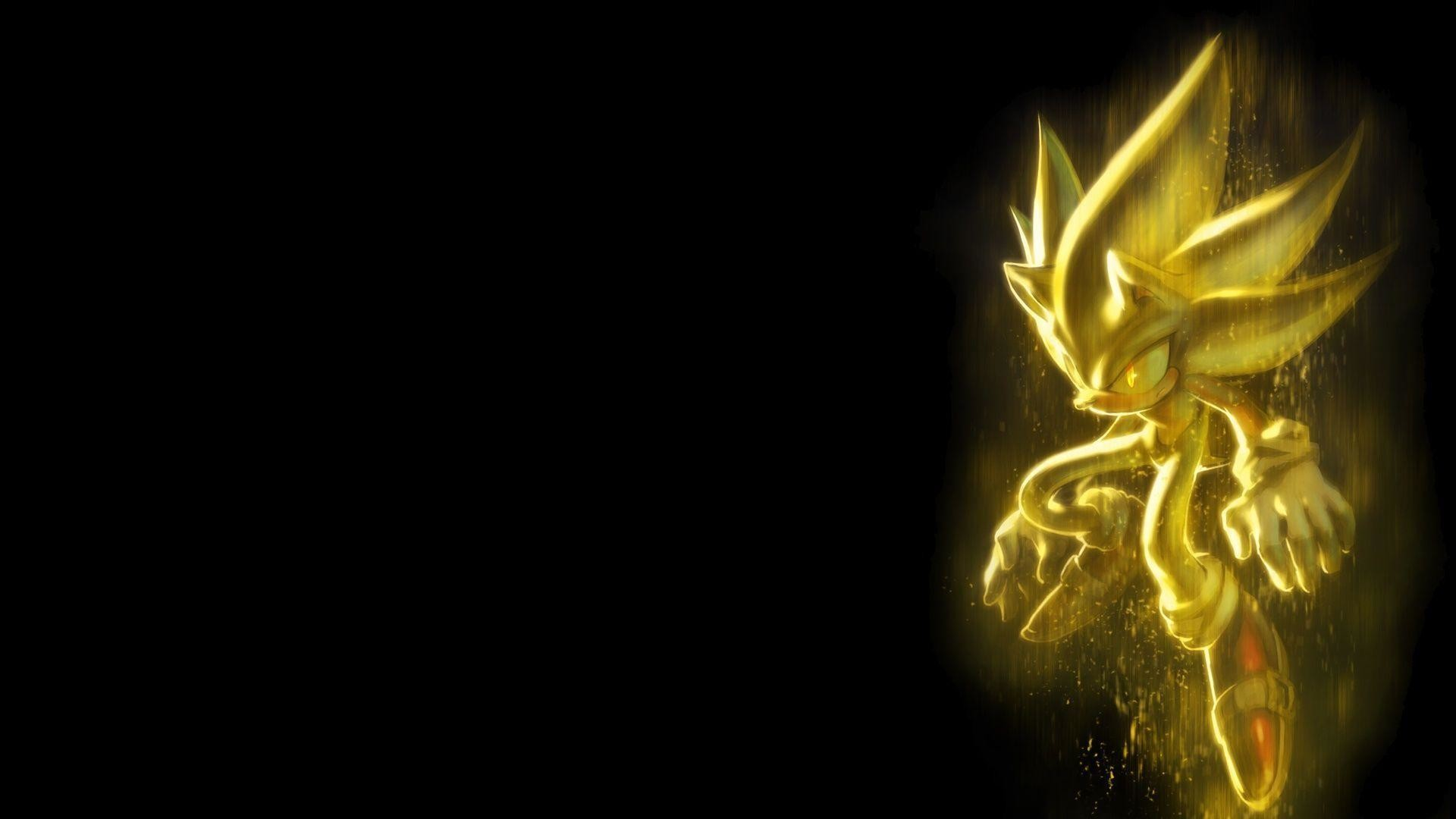 Gold Sonic Wallpaper, Cartons & Animations Wallpaper, hd phone .