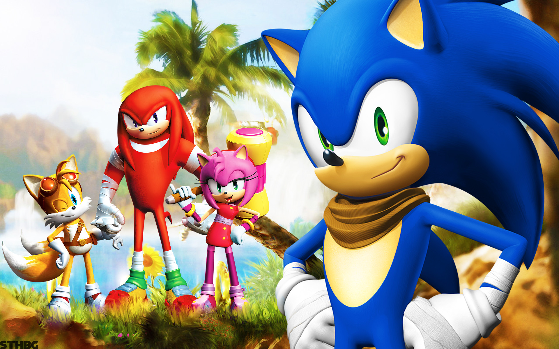 TV Show – Sonic Boom Knuckles the Echidna Amy Rose Miles