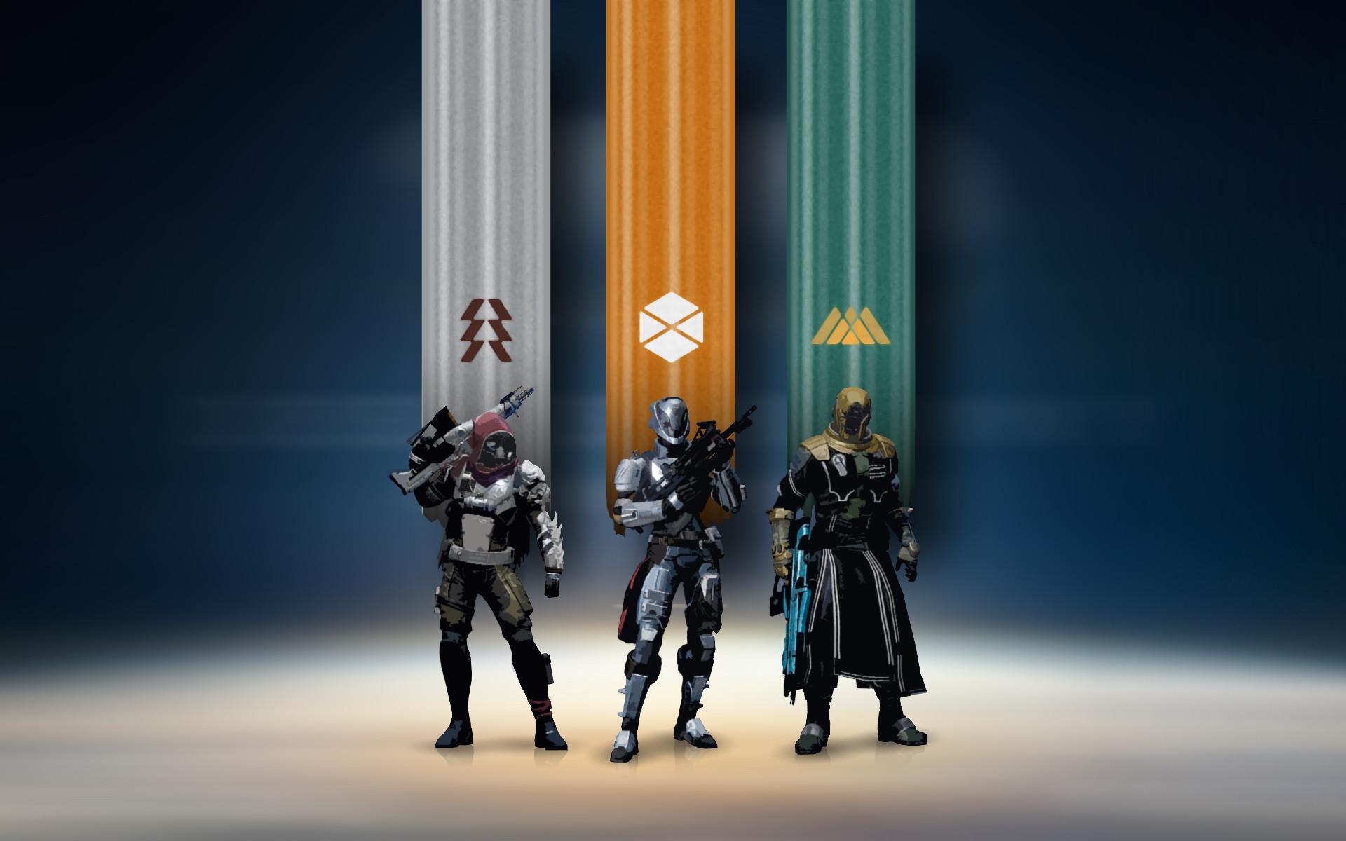 Destiny Hunter, Titan and Warlock HD Wallpaper