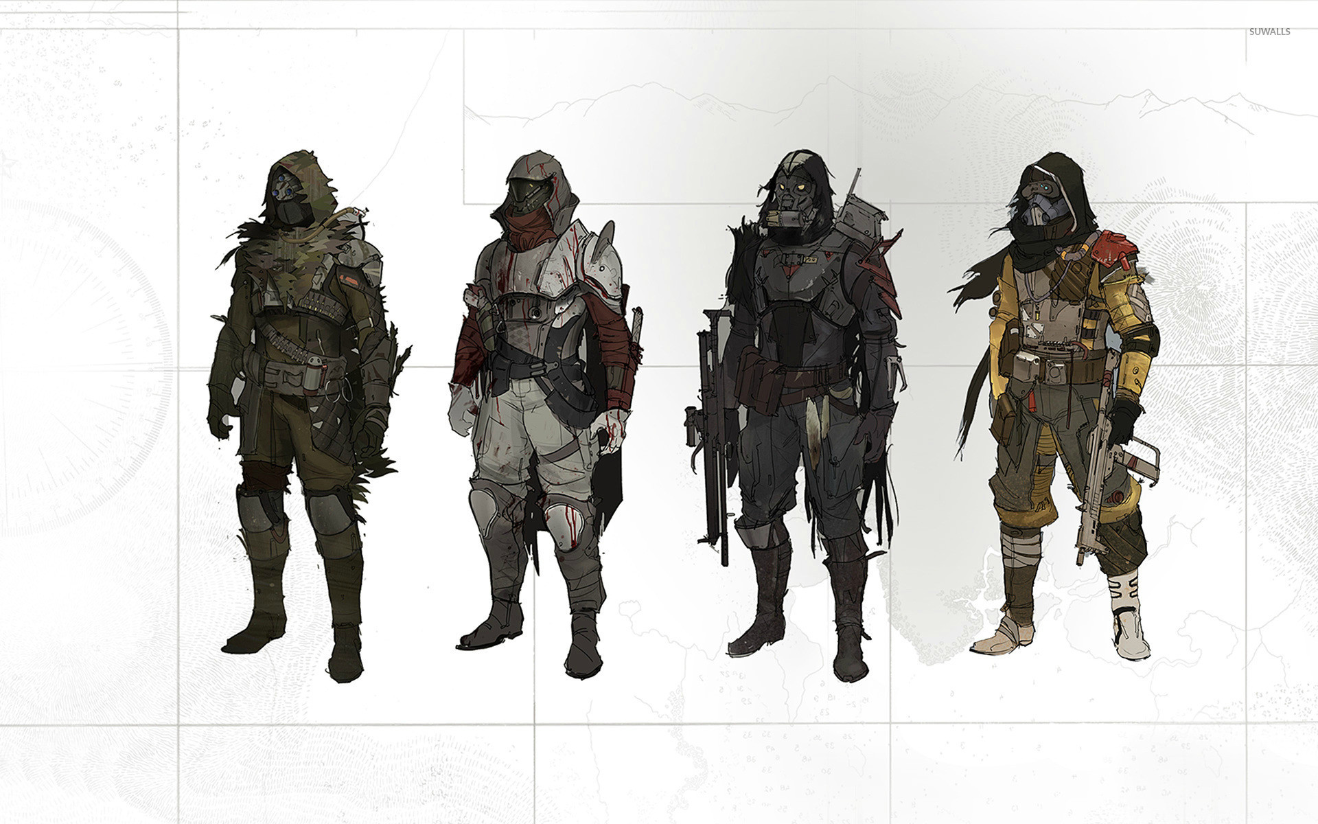 Hunter armors – Destiny wallpaper