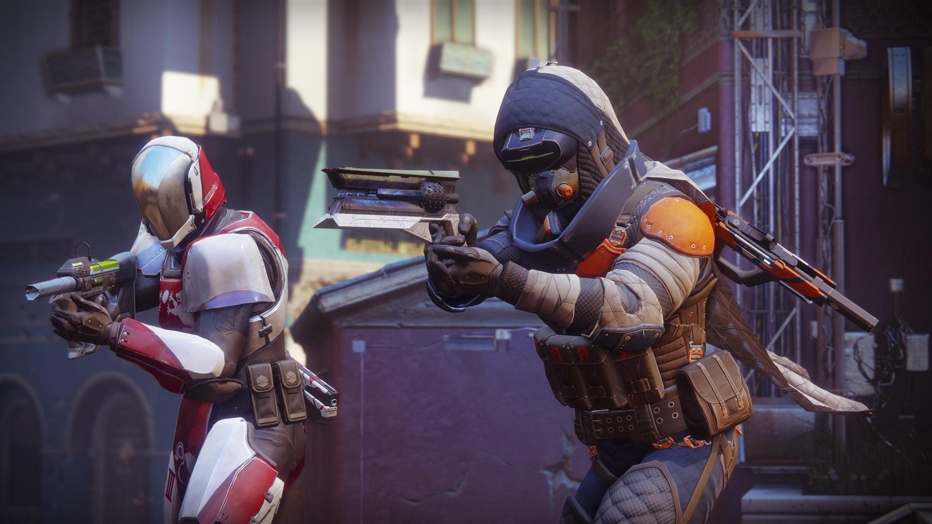 Nice Destiny 2 Hunter and Titan Guardians wallpaper