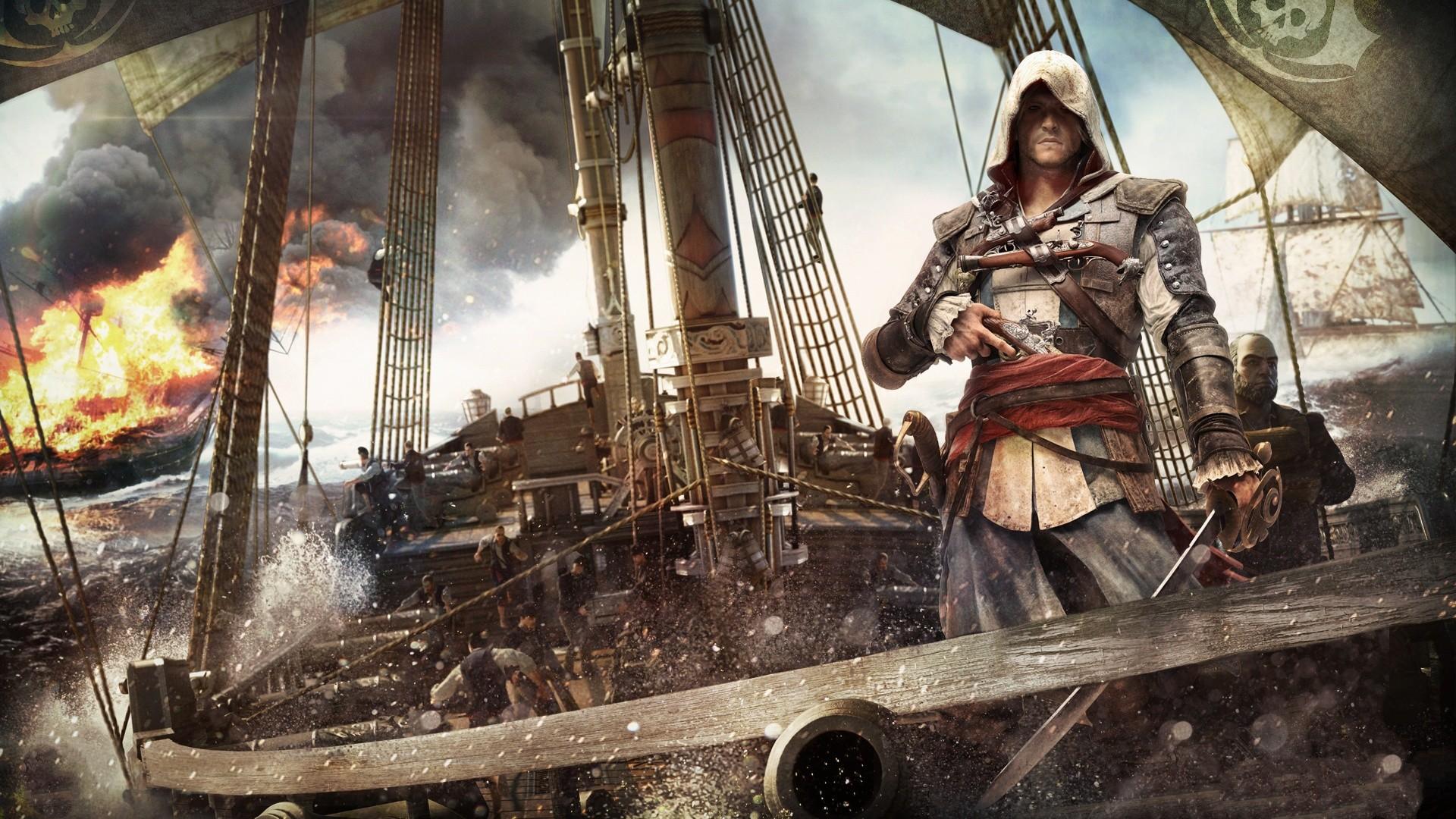 Assassin's Creed Black Flag Background Full HD.