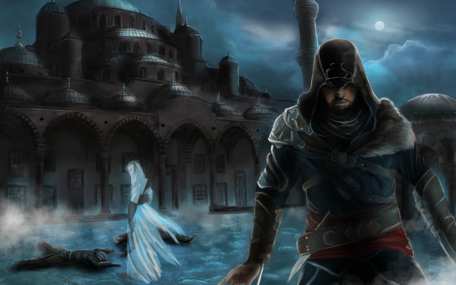Assassin's Creed Revelations Constantinople mosque Ezio Altair city  night wallpaper | | 48293 | WallpaperUP