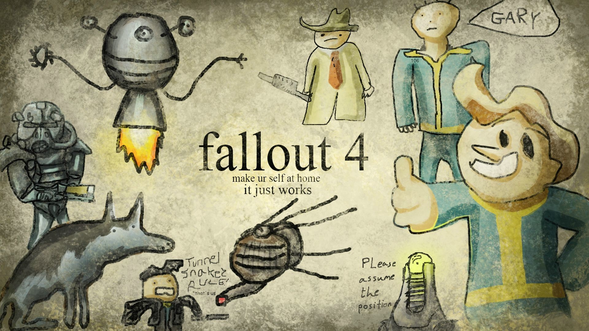 Those are nice, but there is only one true Fallout wallpaper.
