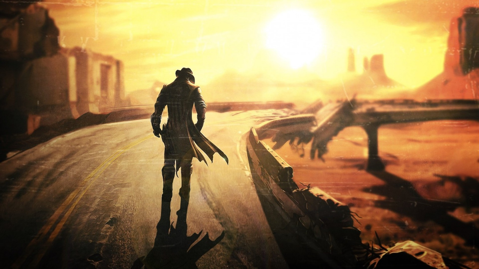 HD Background Fallout 4 Fallout New Vegas Post Apocalypse Game .