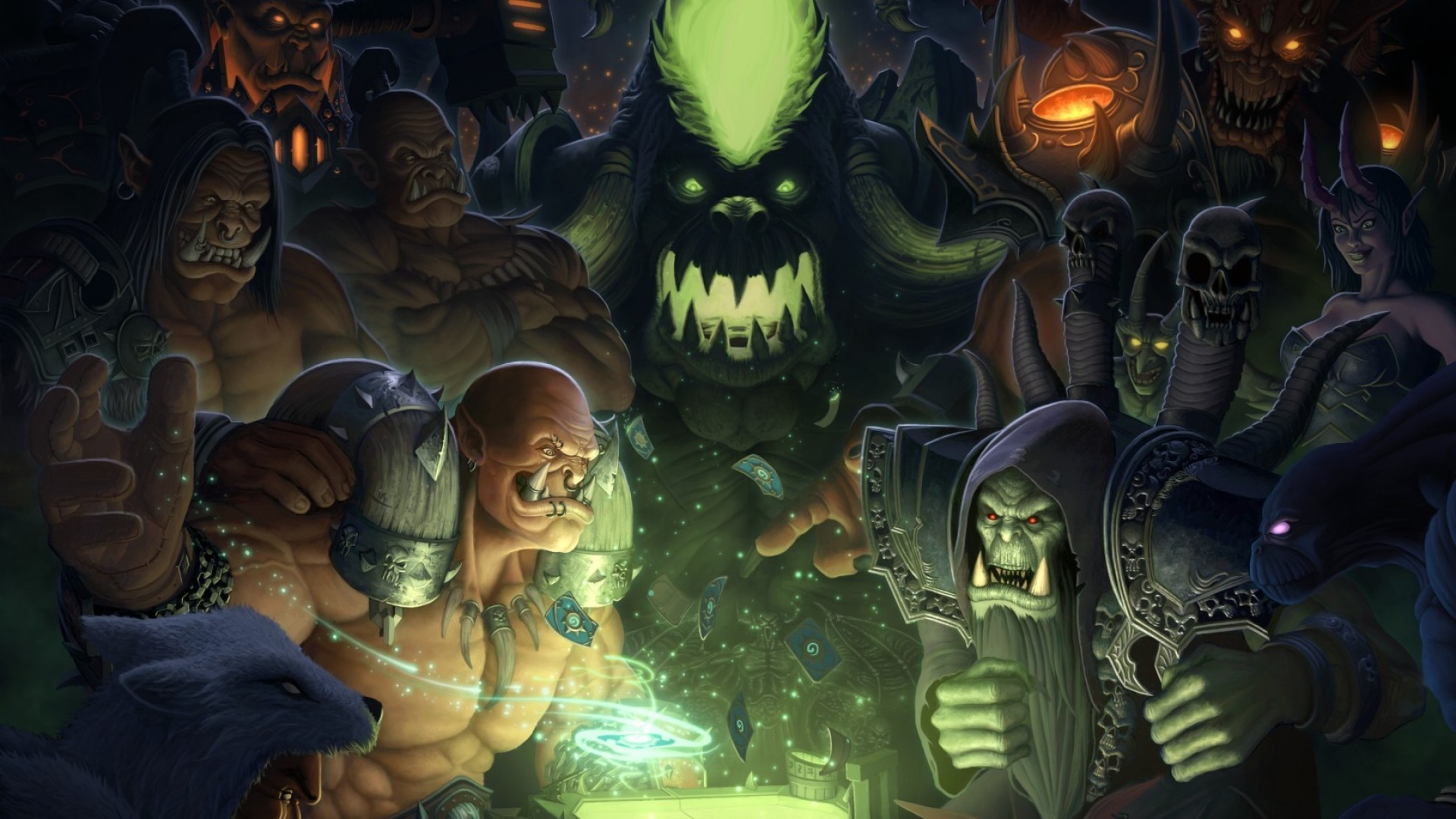 Wallpaper hearthstone, warlords of draenor, wow, maps, orcs,  world of