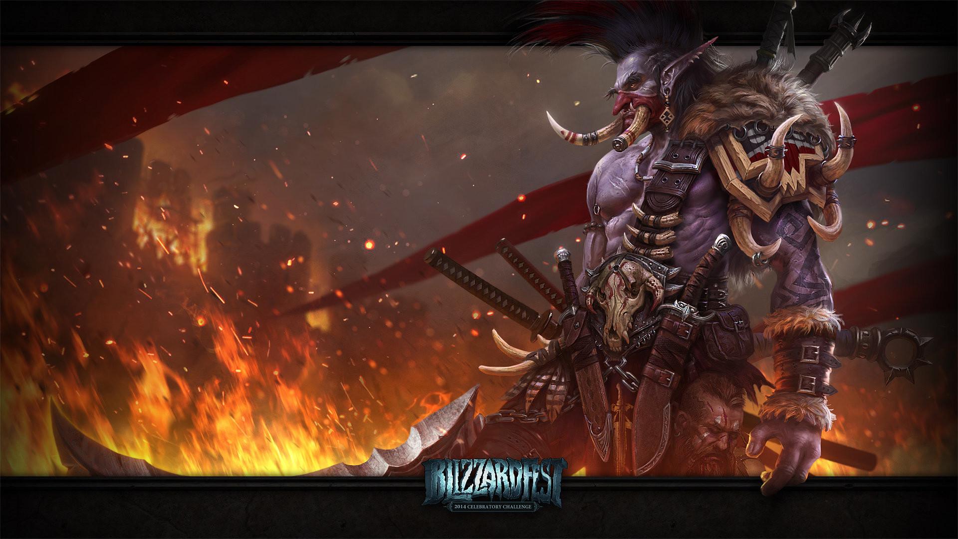 Wallpaper world of warcraft, troll, weapons, art
