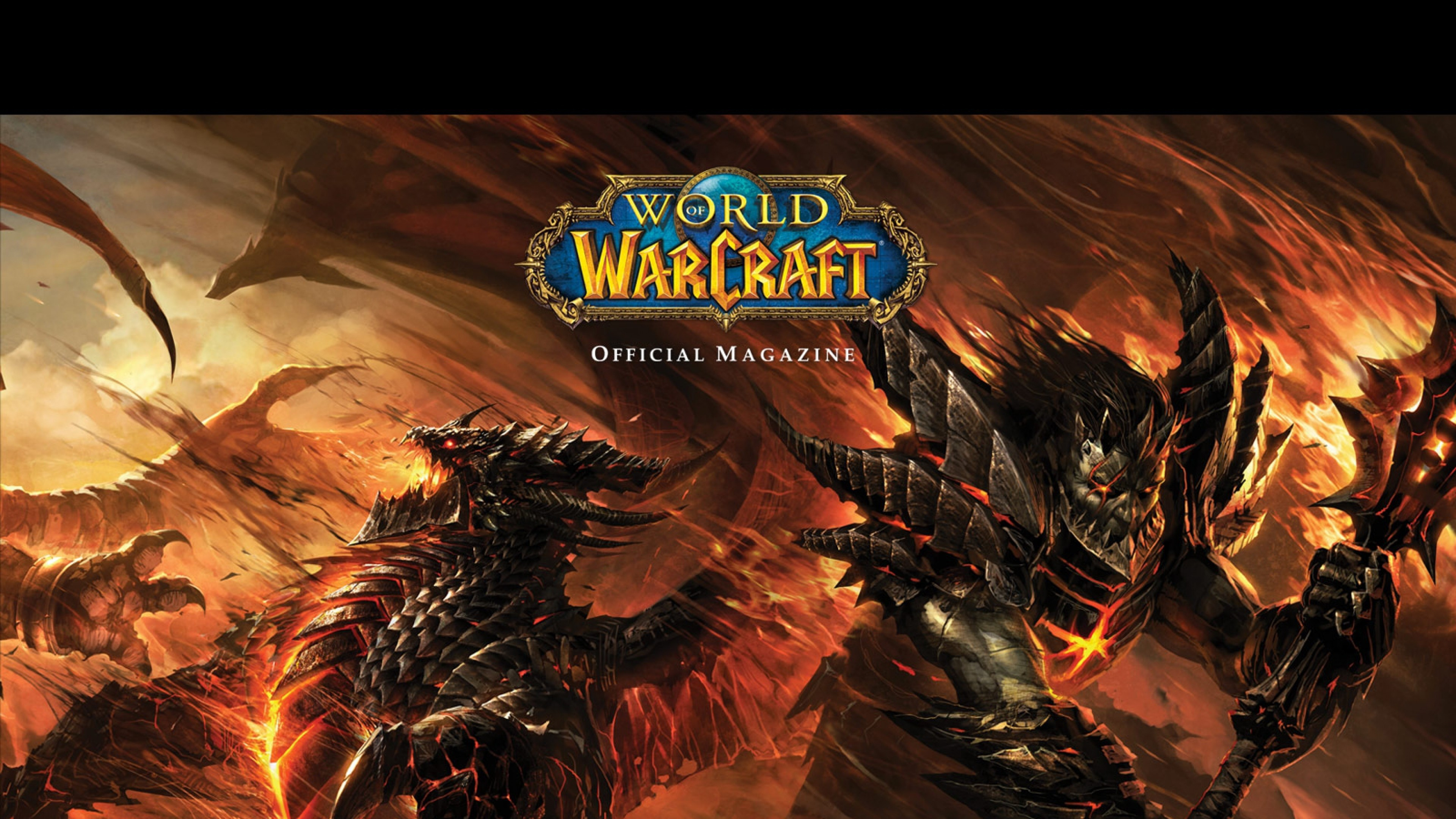 Wallpaper world of warcraft, monsters, fire, wildfire