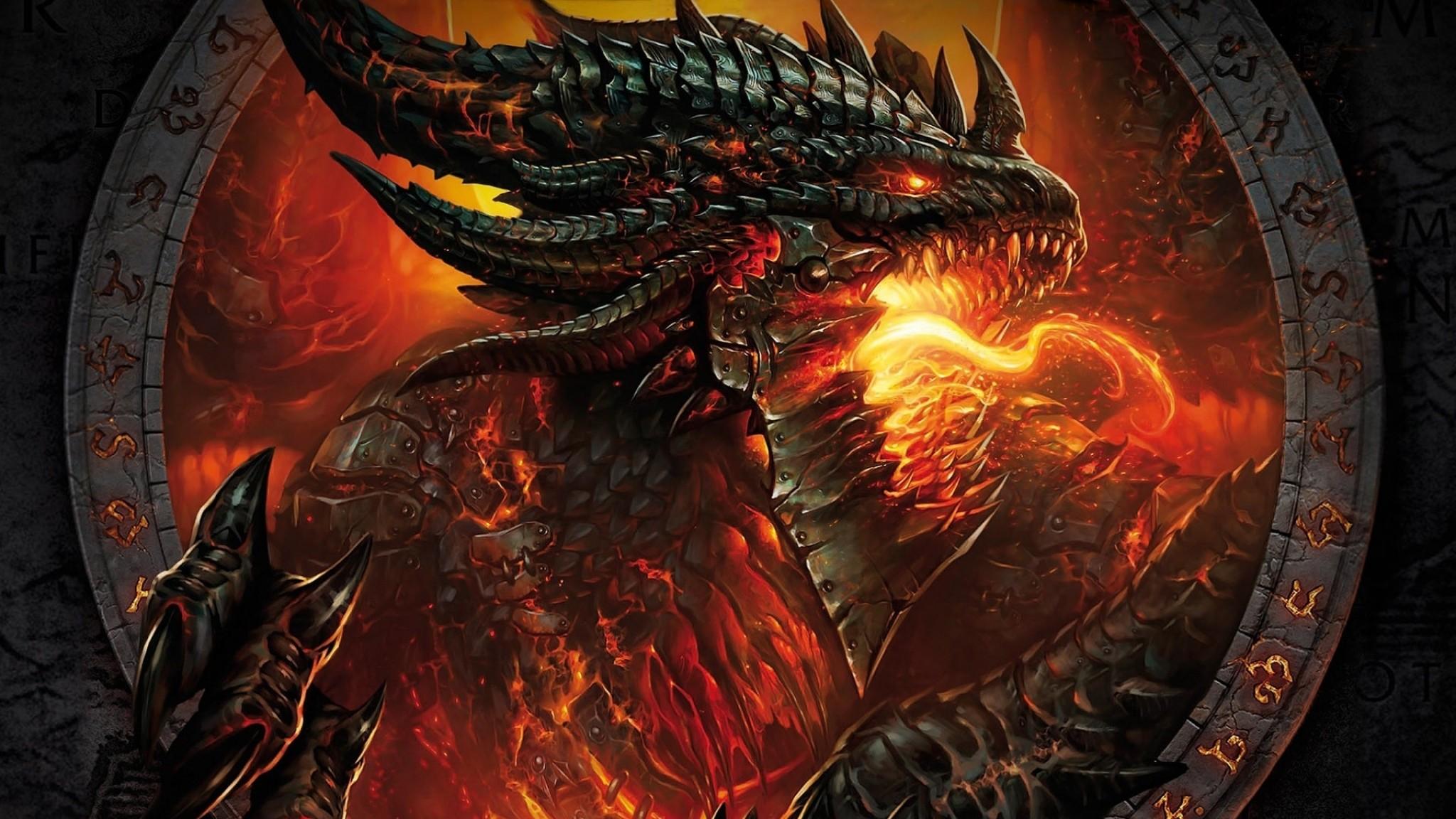 Wallpaper world of warcraft, face, fire, hands, monster