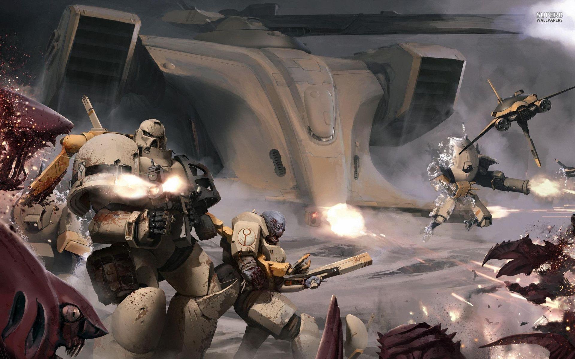 Tau – Warhammer 40,000: Space Marine wallpaper – Game wallpapers – #