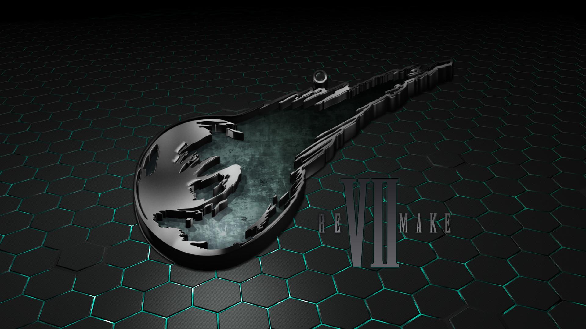 … Final Fantasy VII Remake Logo Wallpaper by seraharcana
