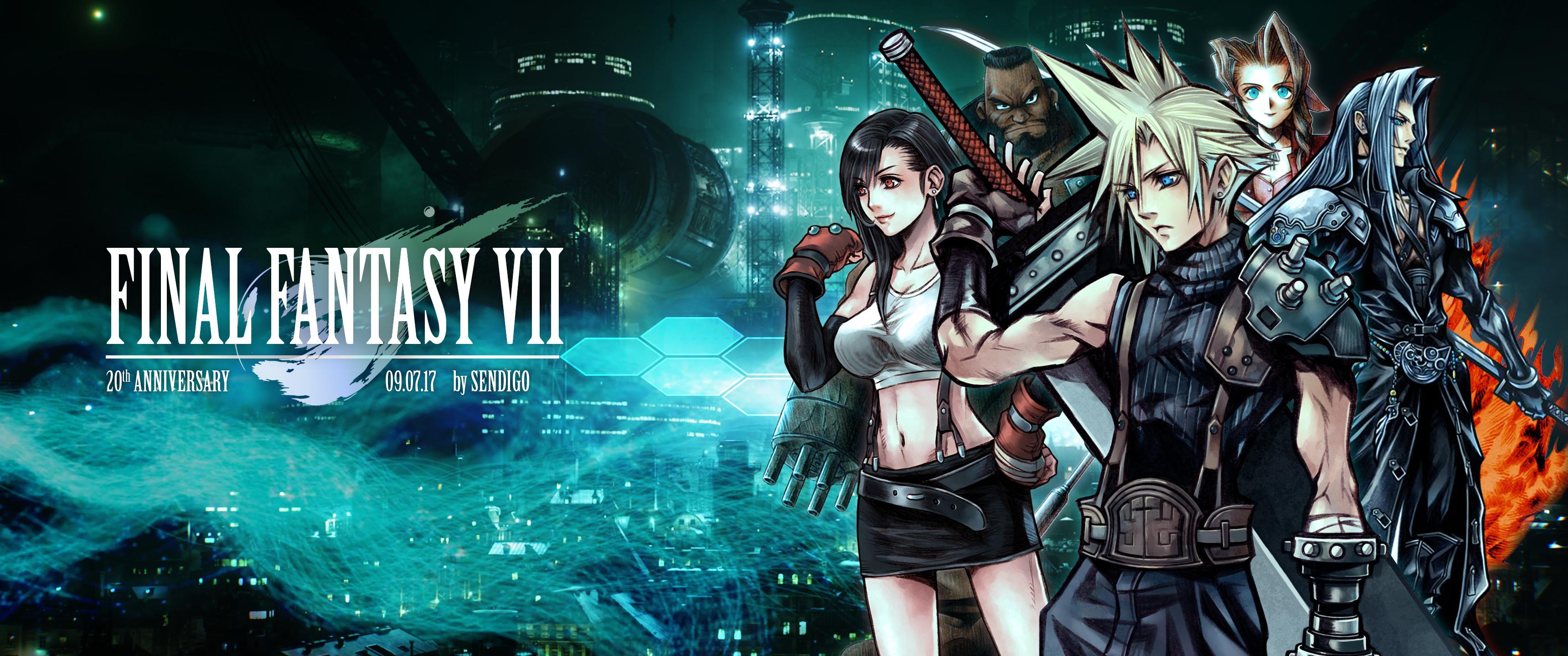 … Final Fantasy VII: 20th Anniversary Wallpaper by Sendigo
