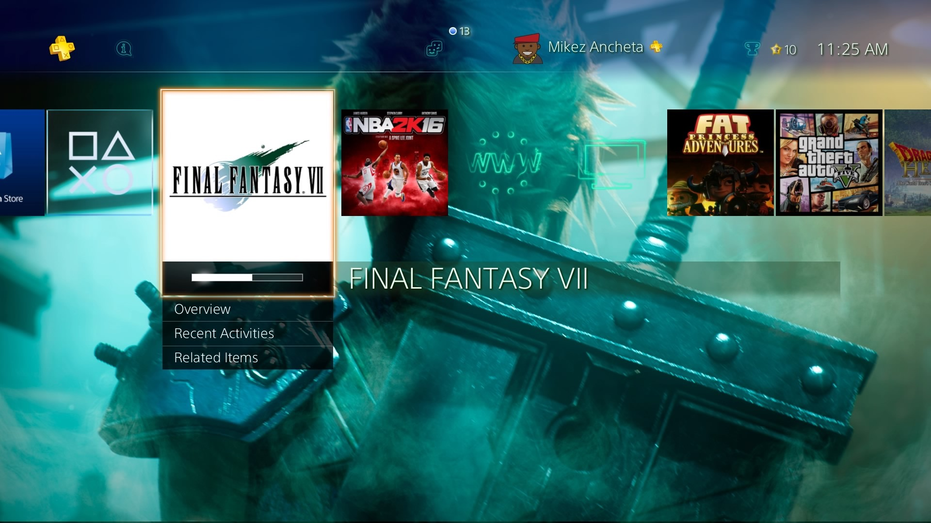 Square Enix also included the Final Fantasy VII Remake announcement video  in the game. The same video they showed that wow the fans during the last  E3.