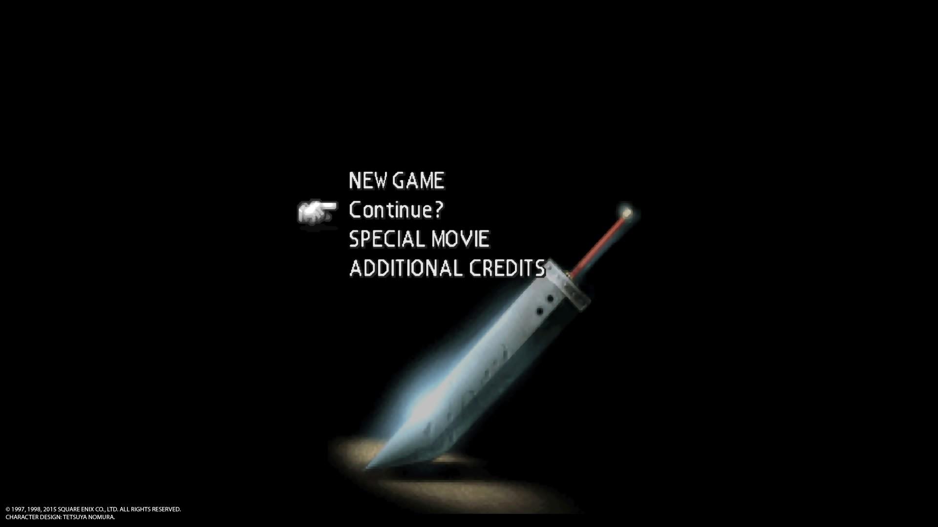 Final Fantasy VII PS4 Review Menu