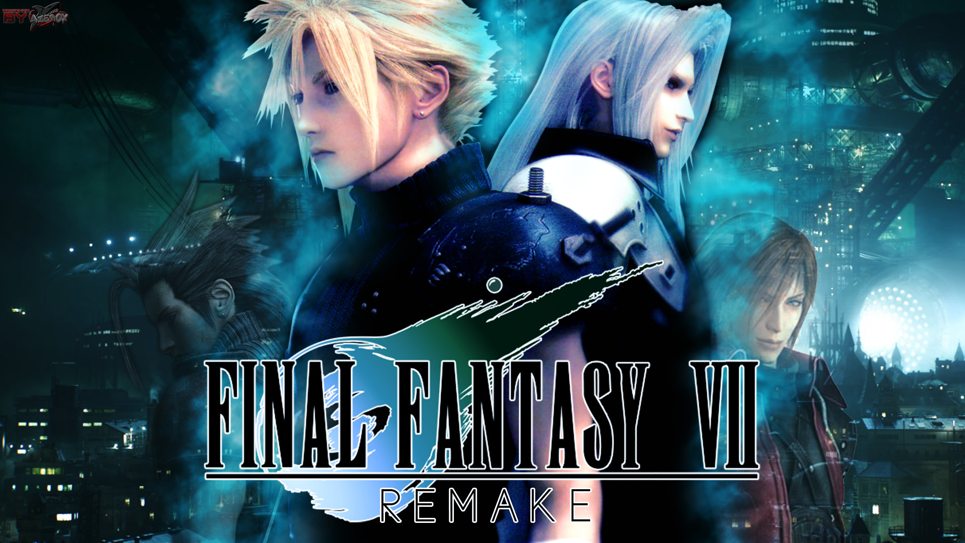 … CLOUD AND SEPHIROTH (FFVII REMAKE) by Azer0xHD