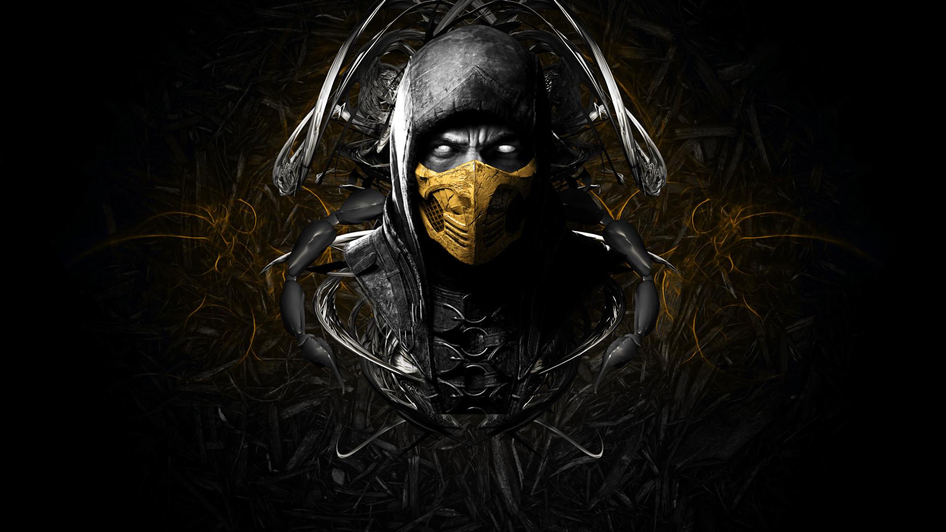 Wallpaper Mortal kombat x, Scorpion, Face, Ninja, Mask