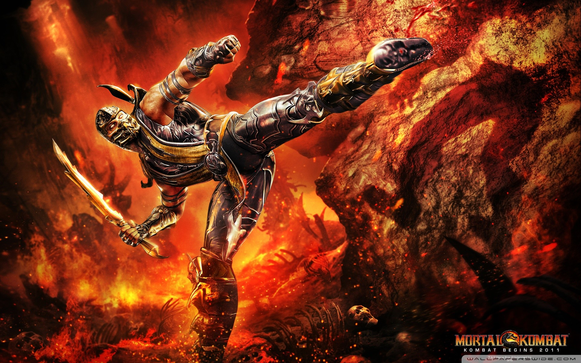 Mortal Kombat Scorpion HD desktop wallpaper High Definition
