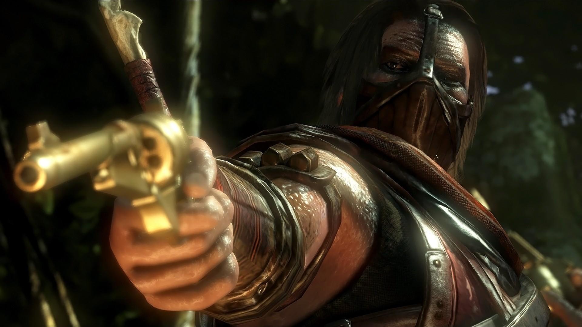 Descargar Mortal Kombat X Erron Negro pistola Señalando