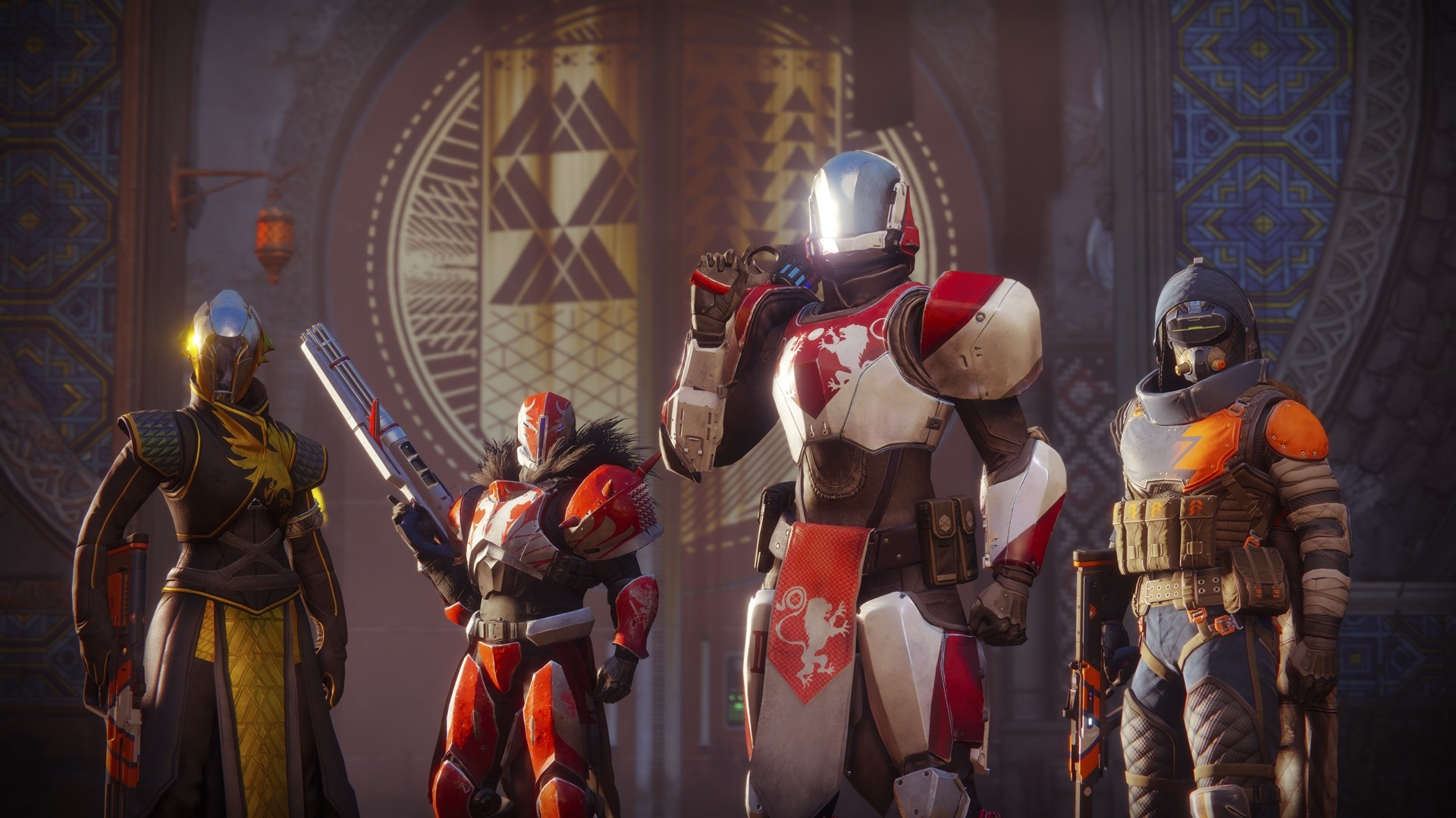Nice Destiny 2 Guardians Titan Warlock and Hunter wallpaper