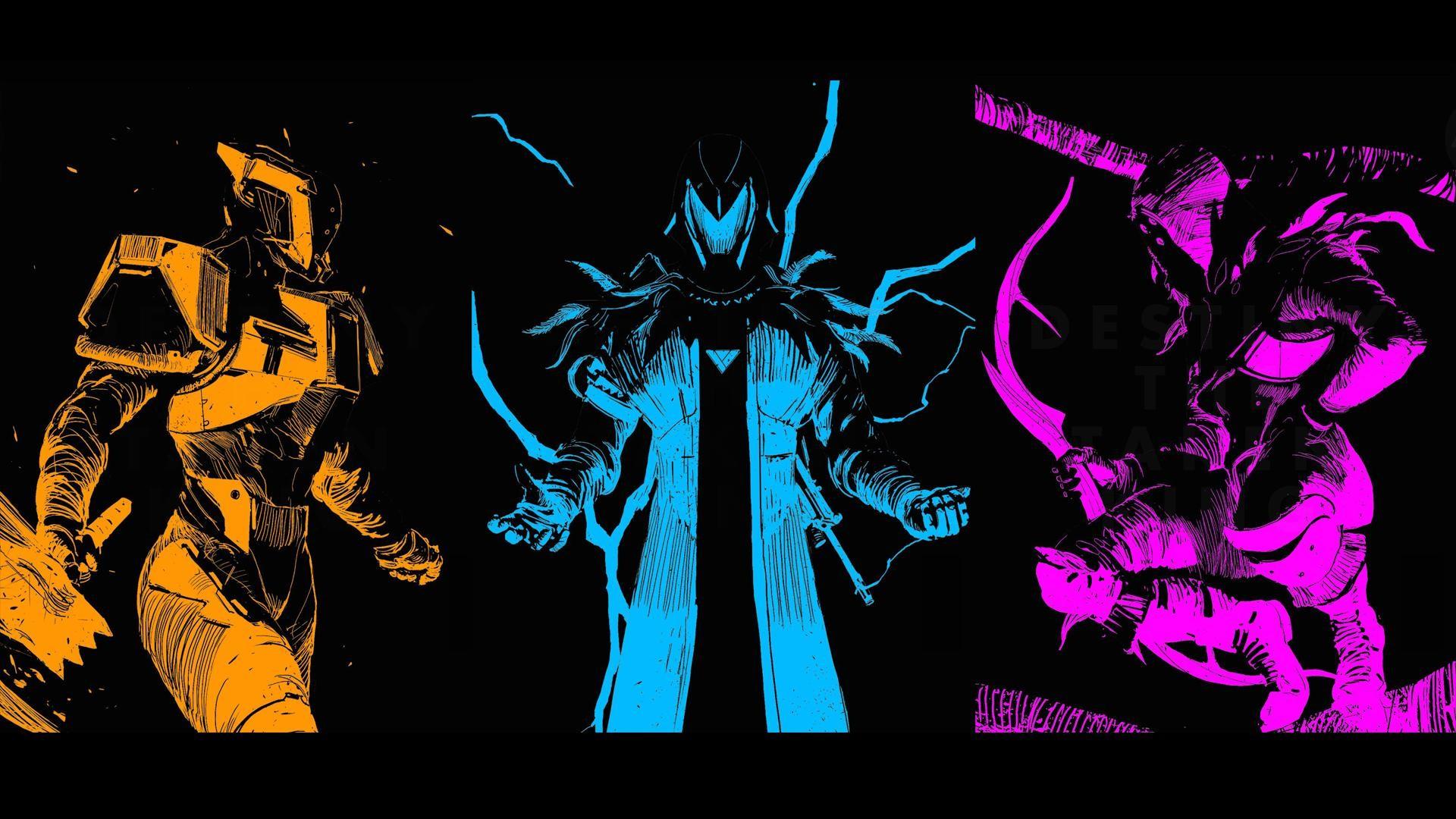 Here is with titan/warlock/hunter: …