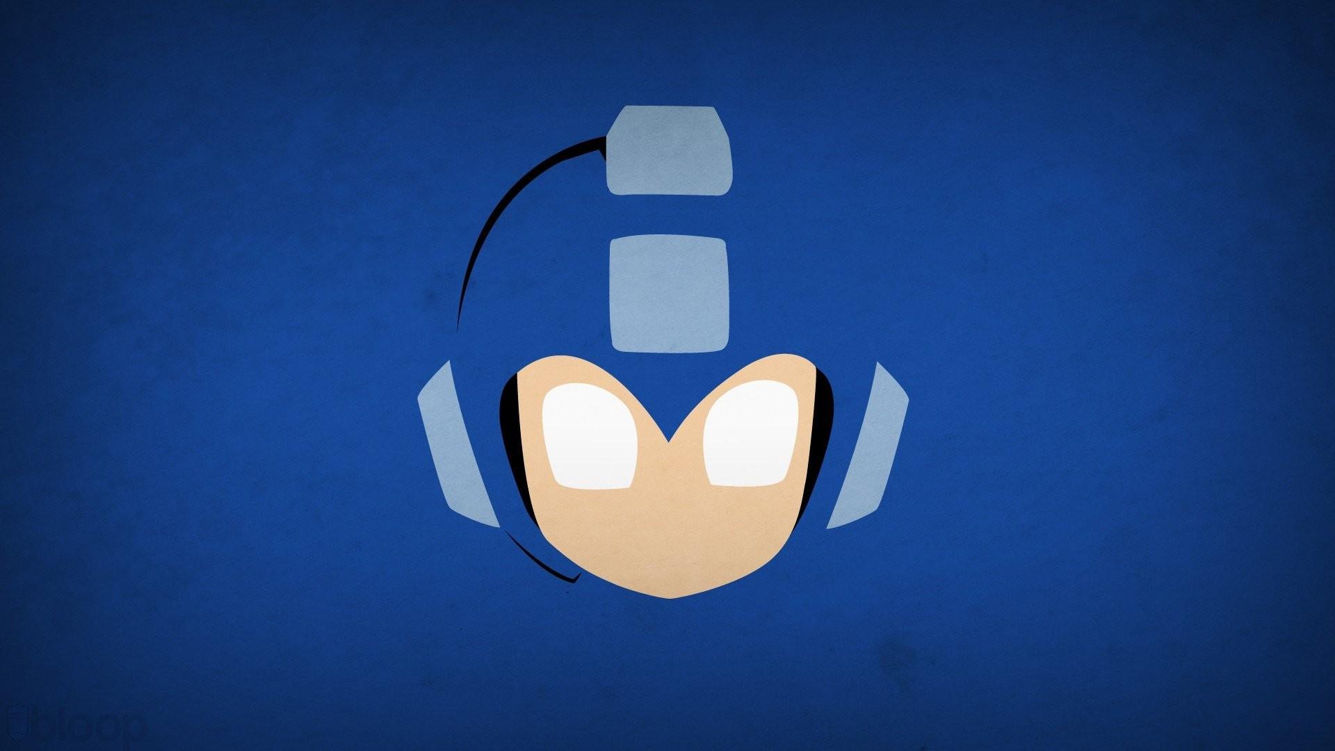 Blo0p Blue Background Mega Man Minimalistic Superheroes Video Games · mega  man megaman zero