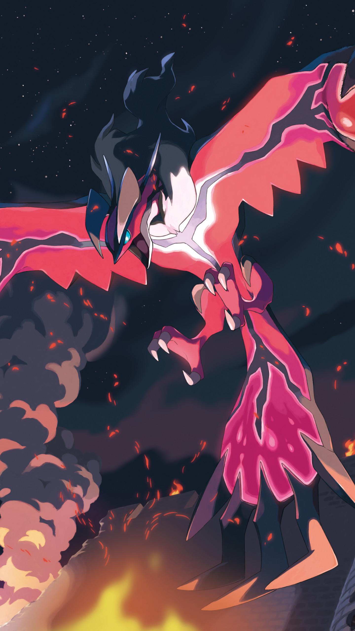 Video Game Pokemon Pokémon Yveltal Mobile Wallpaper