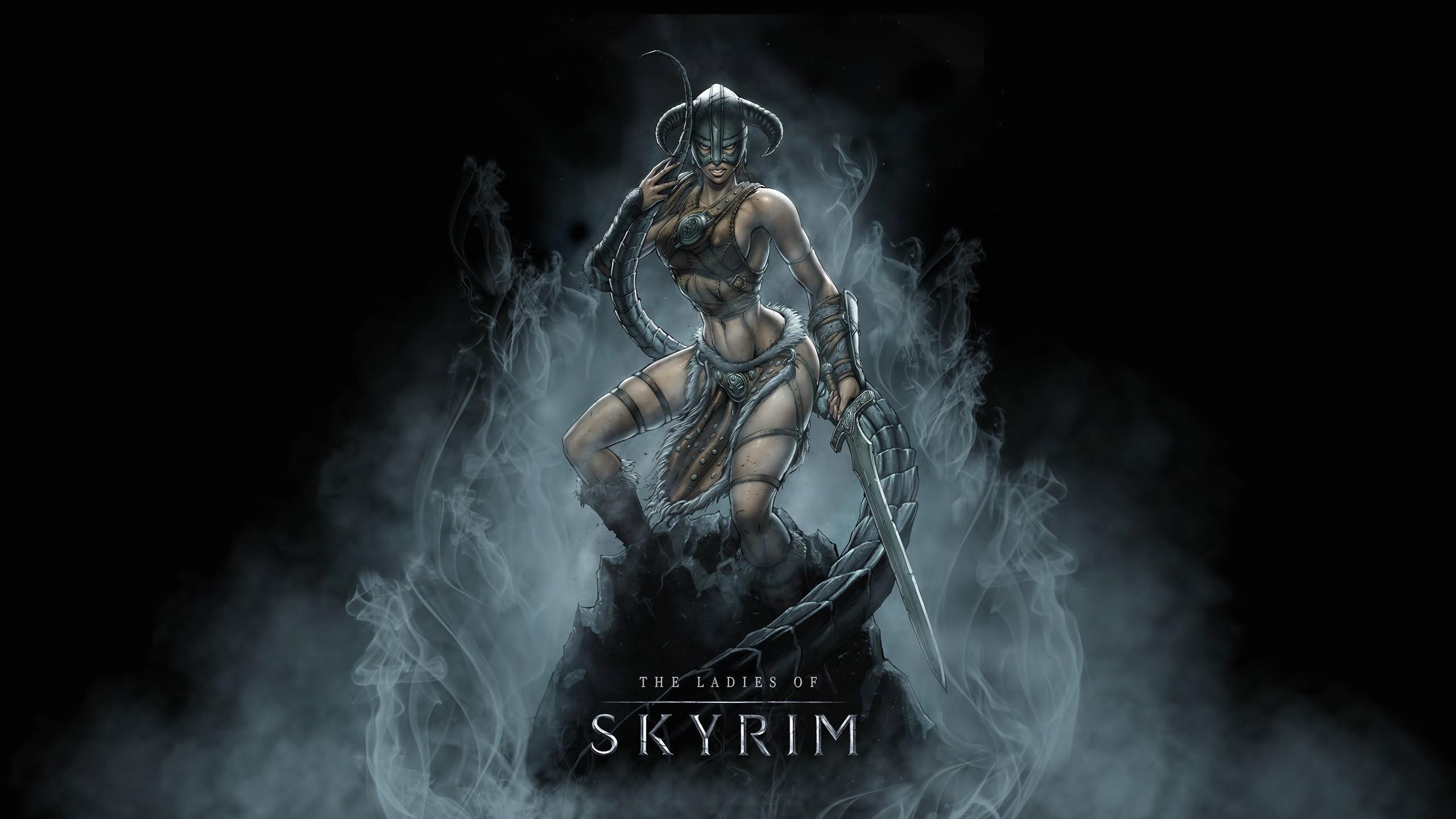 Wallpaper Skyrim, girl, armor, sword desktop wallpaper » Games .