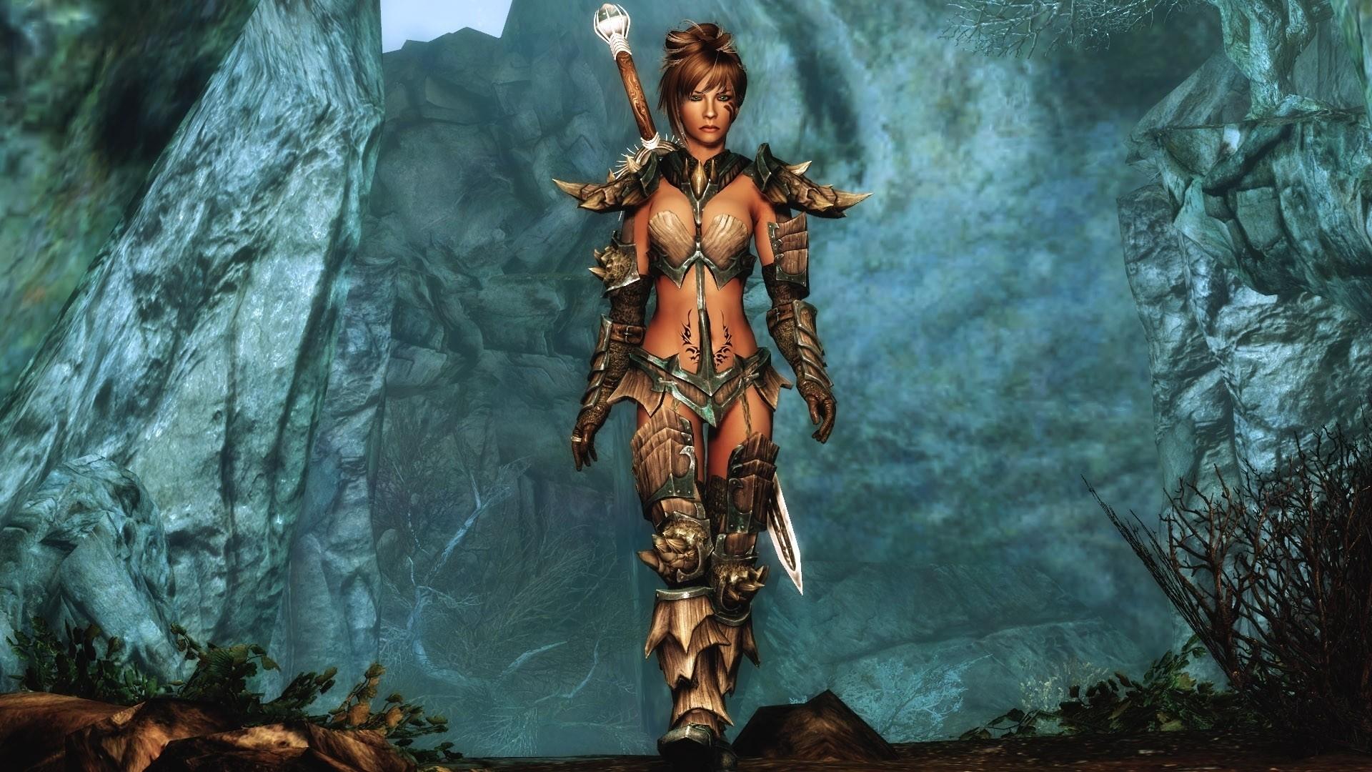 Women armor the elder scrolls v skyrim Wallpaper