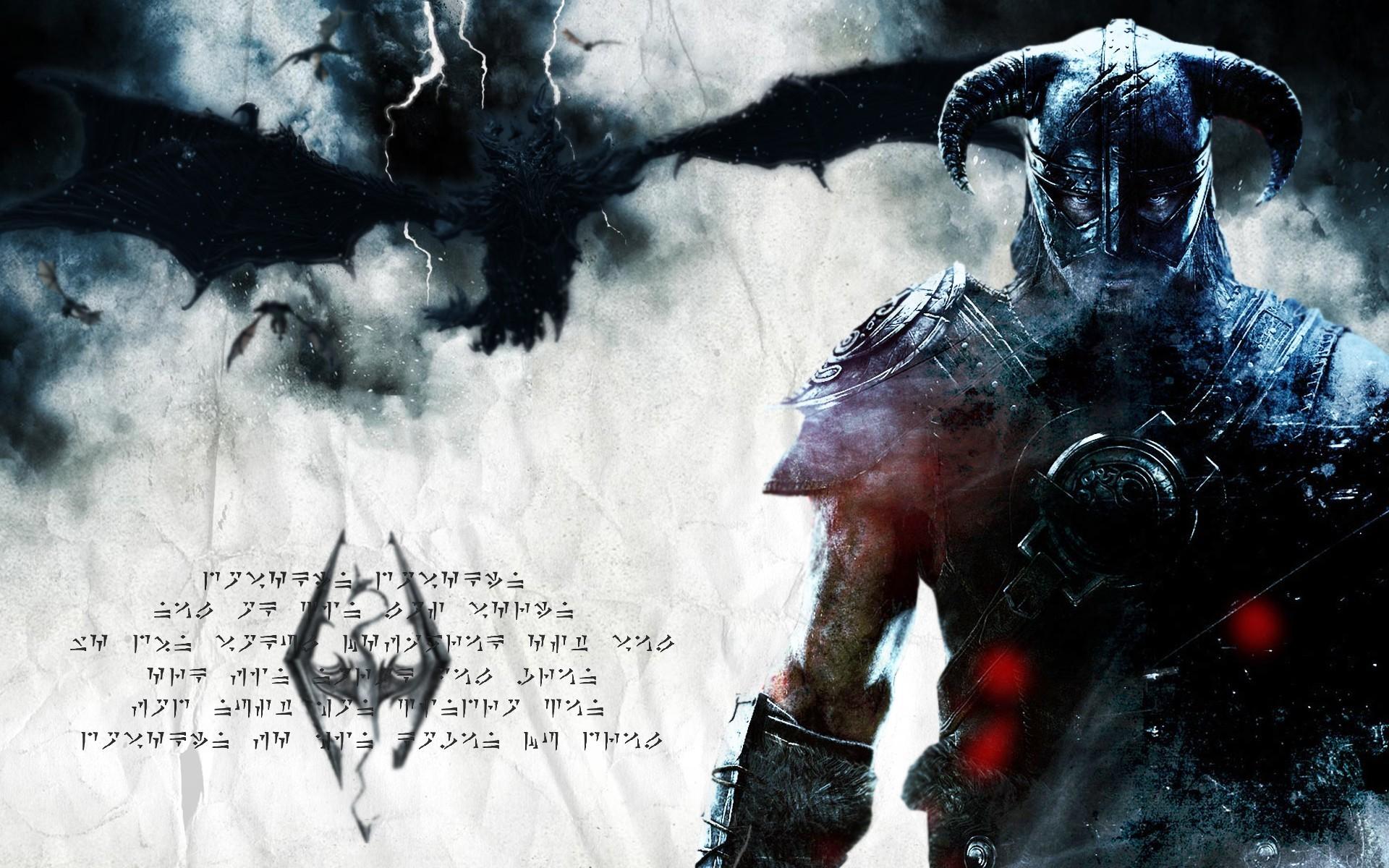 Dragon, The Elder Scrolls V: Skyrim, Dragonborn, Dovahkiin Wallpaper HD