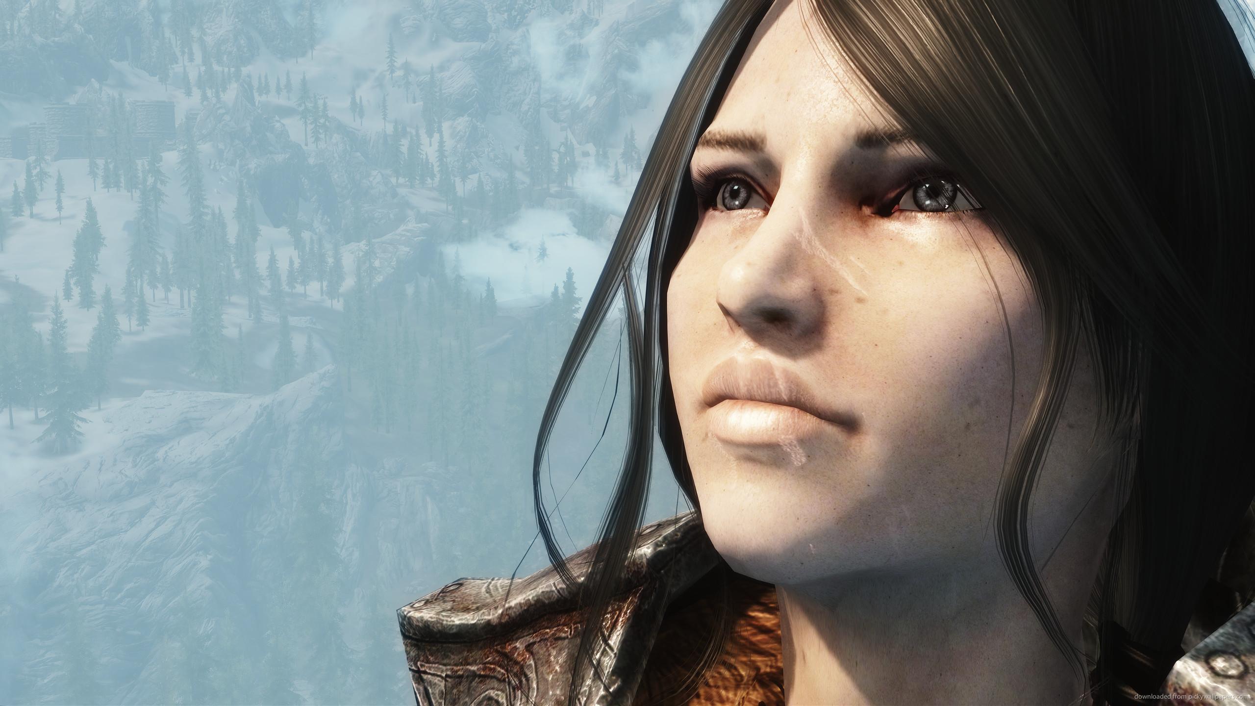 Skyrim Female Character Face for 2560×1440