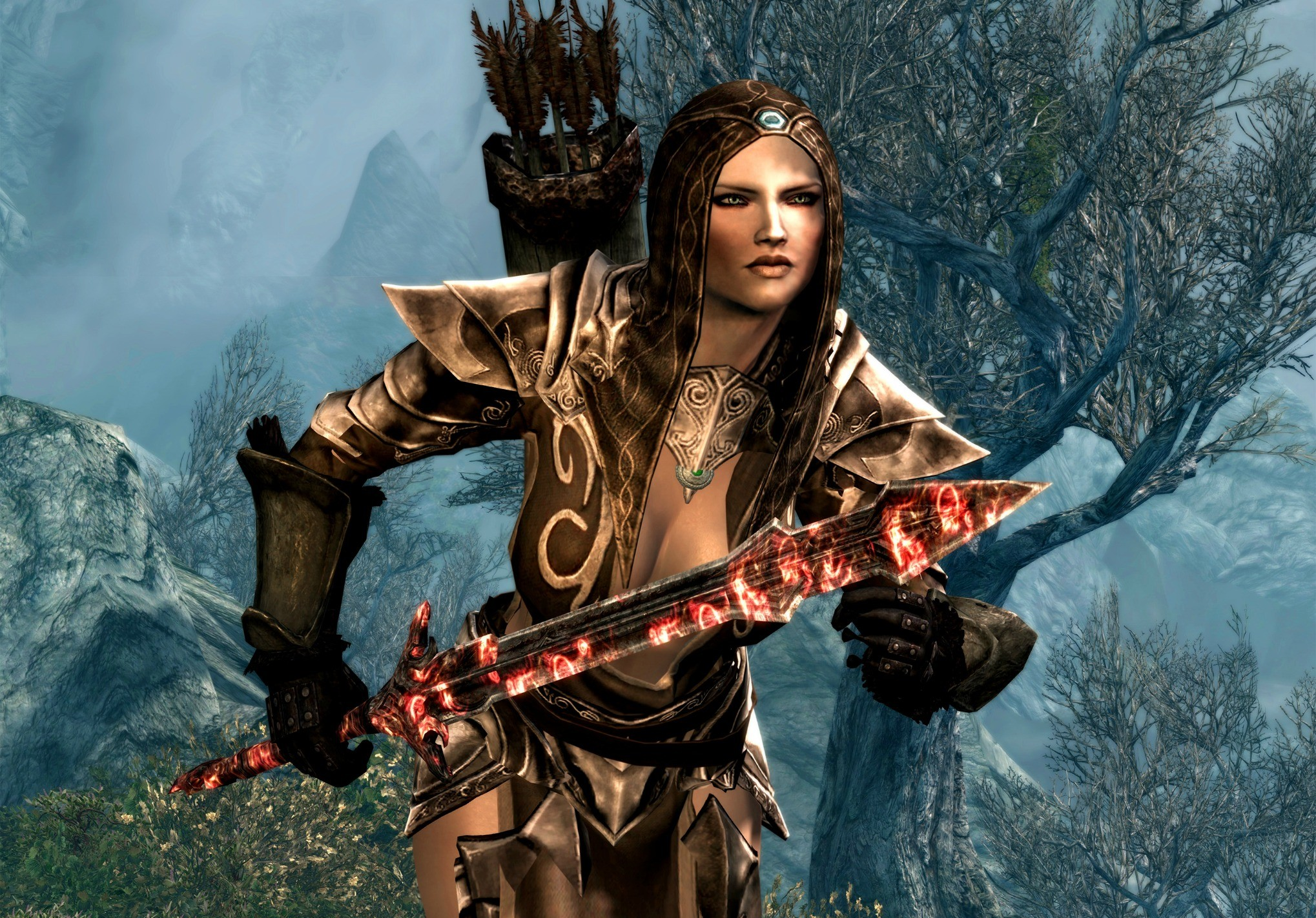 Video Game – The Elder Scrolls V: Skyrim Archer Weapon Woman Wallpaper