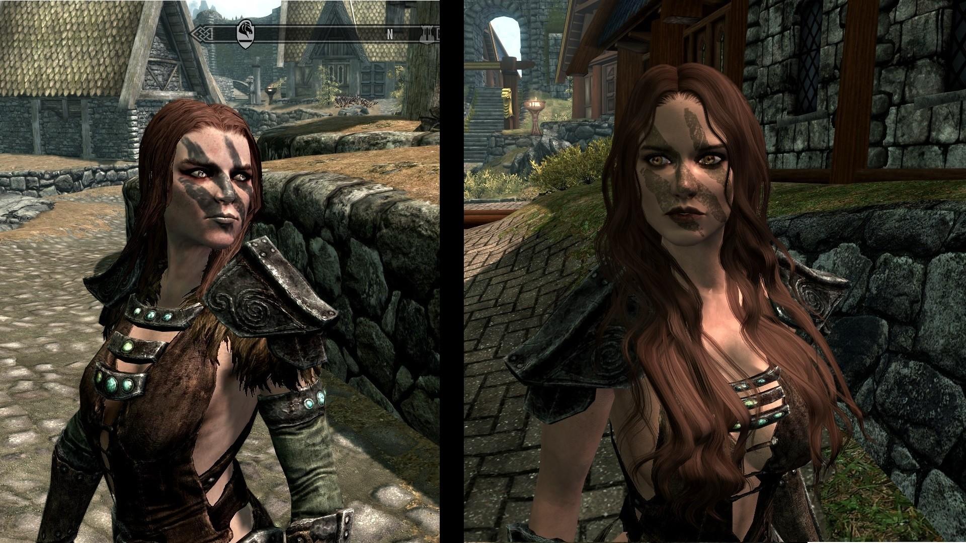 Skyrim Female NPCs: Original vs. Modded