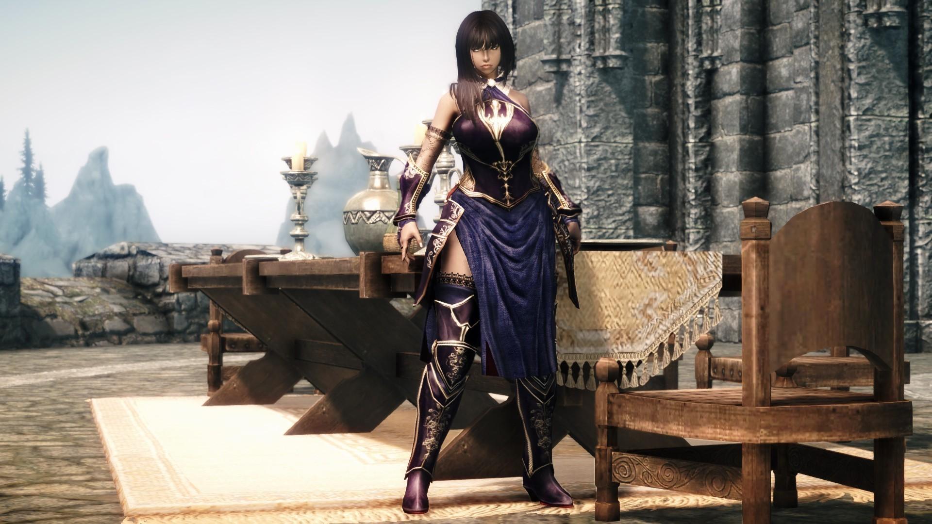 video Games, Video Game Girls, Shanoa (Castlevania), The Elder Scrolls V:  Skyrim, Mods Wallpapers HD / Desktop and Mobile Backgrounds