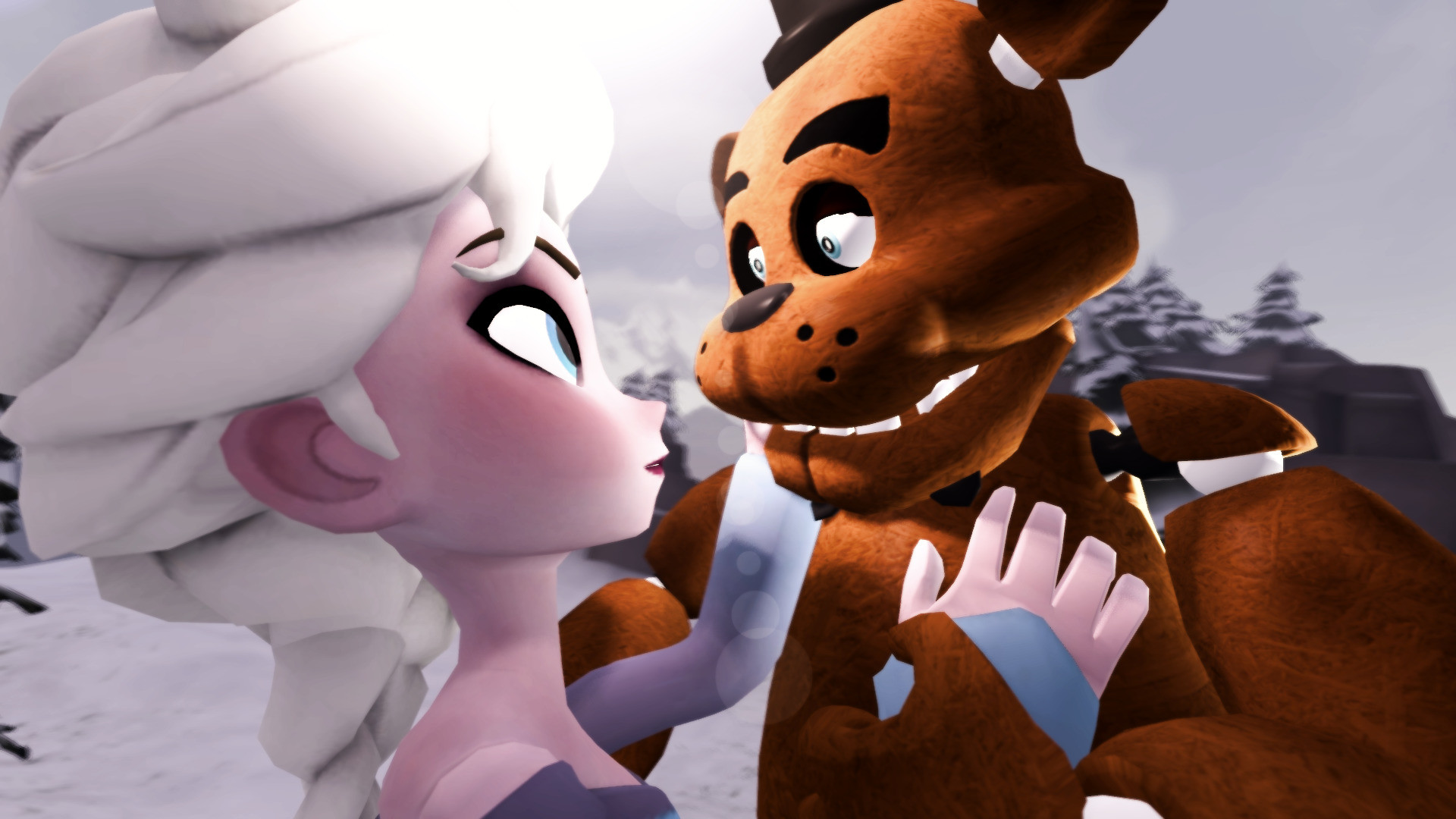 Five Nights At Freddys, Freddy Fazbear, Crossover, Frozen (movie), Princess  Elsa Wallpapers HD / Desktop and Mobile Backgrounds