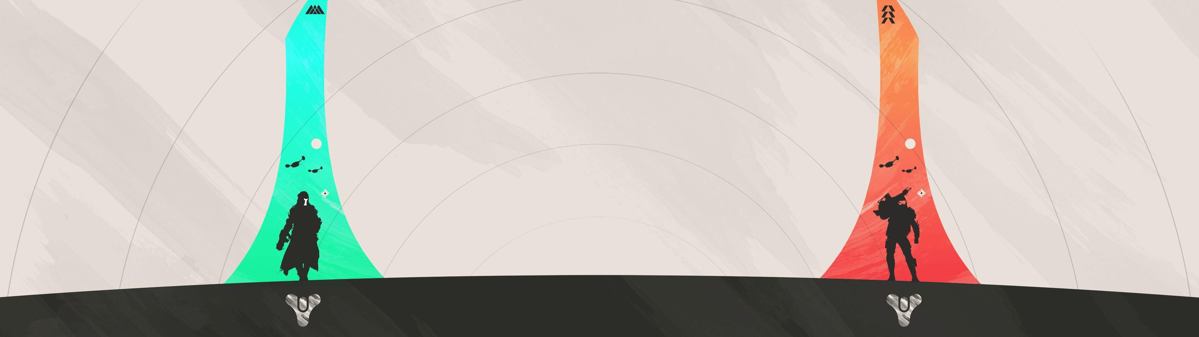Created this trio of Minimalist Destiny Banner Posters – Hunter, Titan .