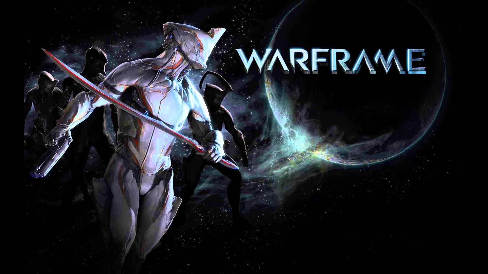 WARFRAME sci-fi warrior armor robot cyborg space stars planet poster f  wallpaper
